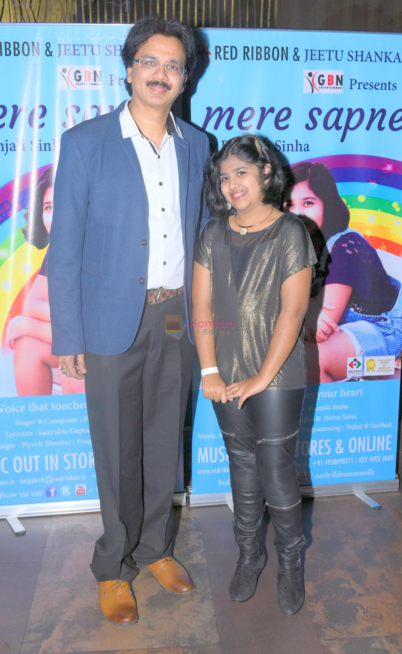 Jeetu Shankar with Pranjali Sinha at the Launch of Youngest Music Composer in Golden Book of World Records 2016 Pranjali Sinha's new album MERE SAPNE