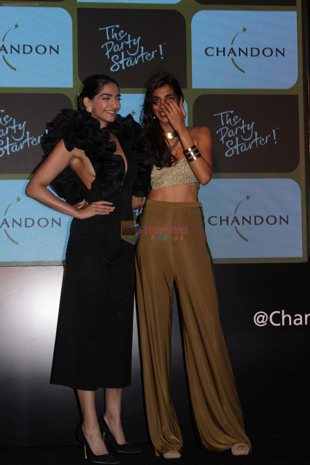 Sonam Kapoor at Chandon's Party Starter Song with singer Anushka on 2nd March 2017