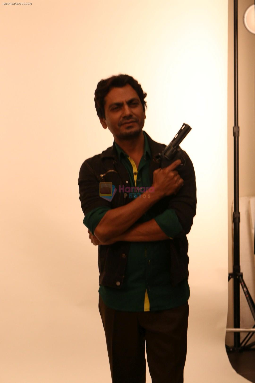 Nawazuddin Siddiqui at the Shooting For His First Movie Poster Of His Upcoming Film Babumoshai Bandookbaaz's on 19th March 2017