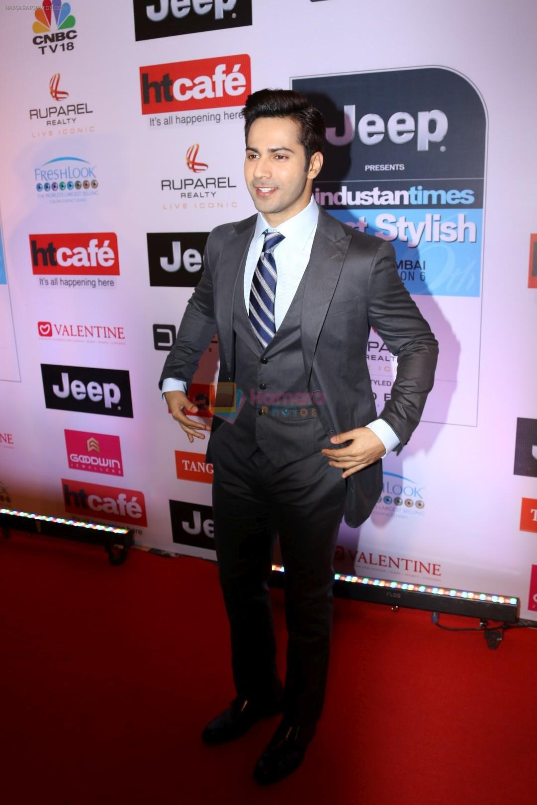 varun dhawan at the red carpet of most stylish awards 2017 on 24th