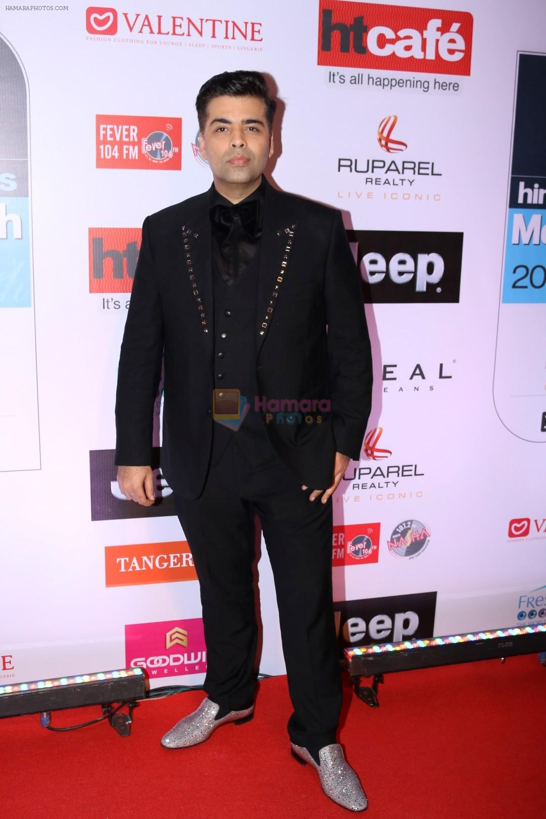karan johar at the red carpet of most stylish awards 2017 on 24th