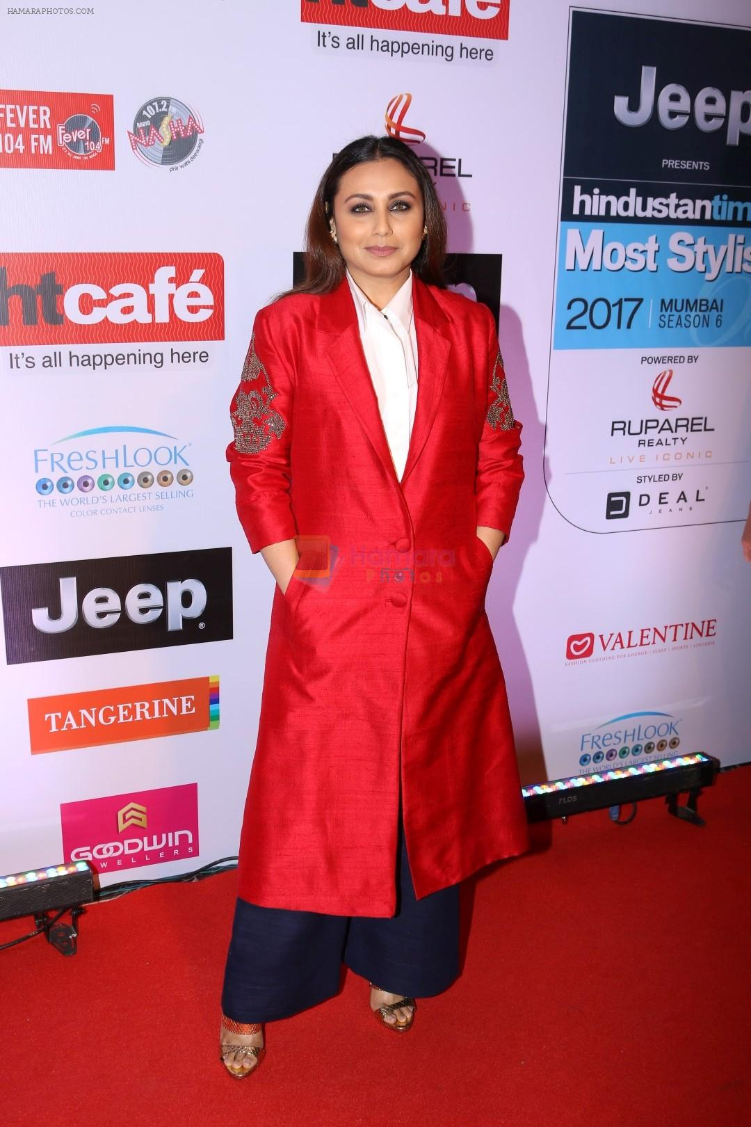 rani mukherjee at the red carpet of most stylish awards 2017 on