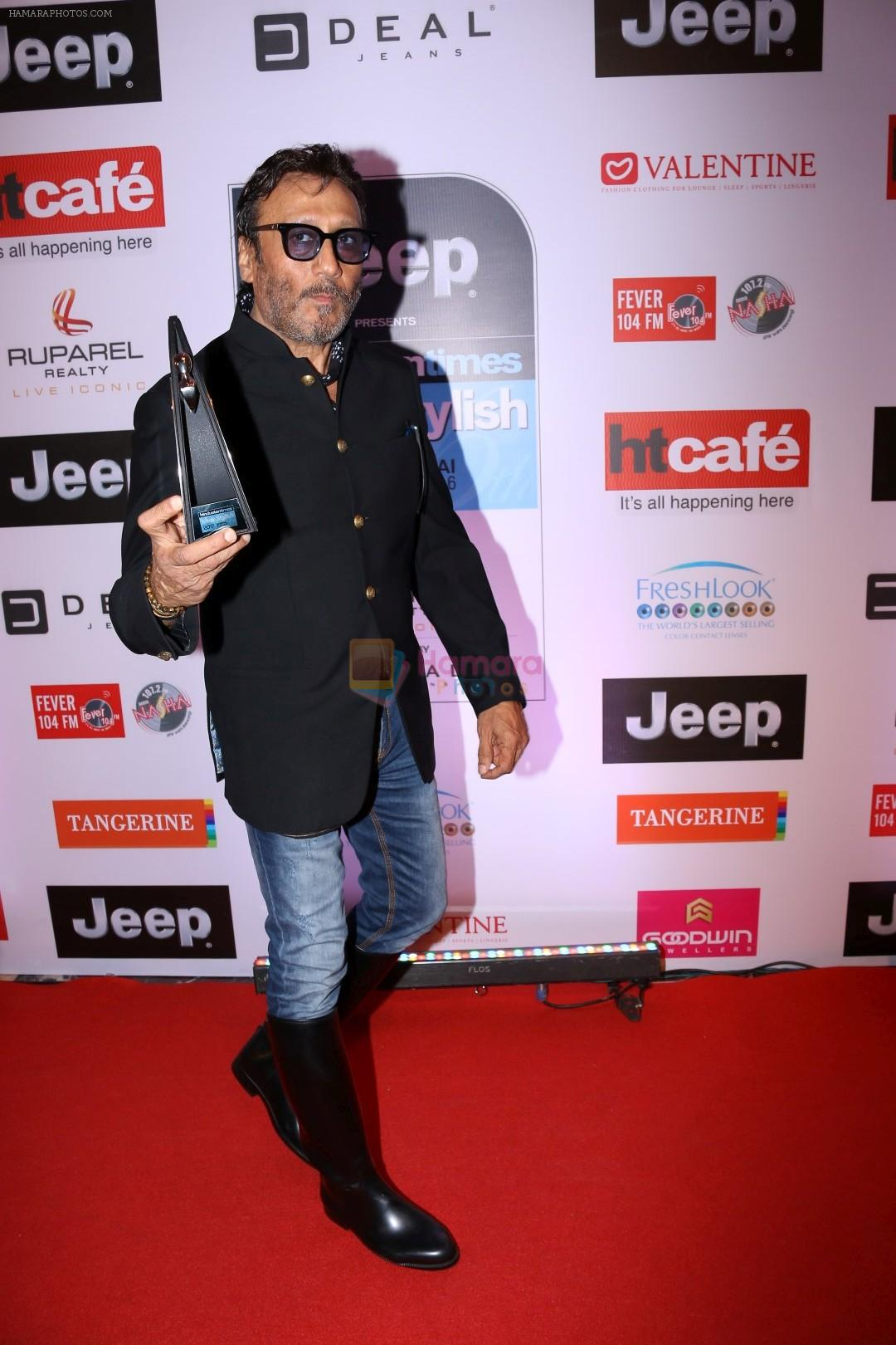 jackie shroff at the red carpet of most stylish awards 2017 on
