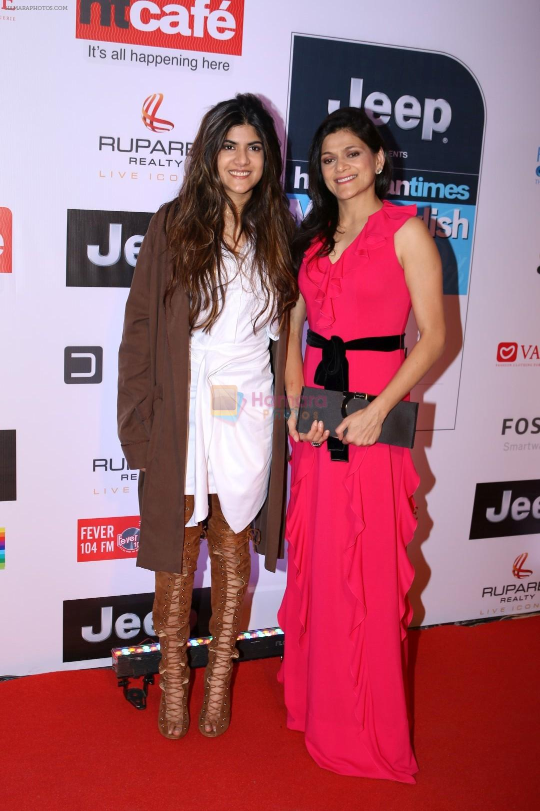 at the red carpet of most stylish awards 2017 on 24th march 2017