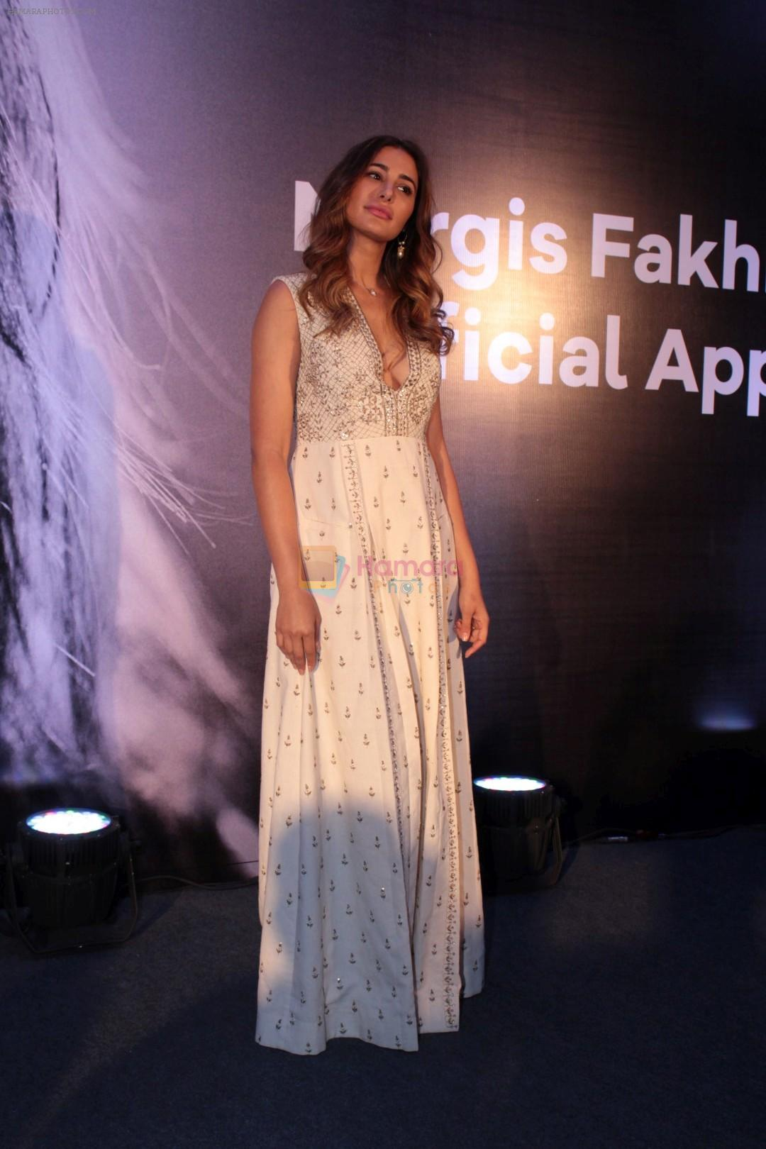 Nargis Fakhri at the launch Of Her Own Mobile App on 12th April 2017