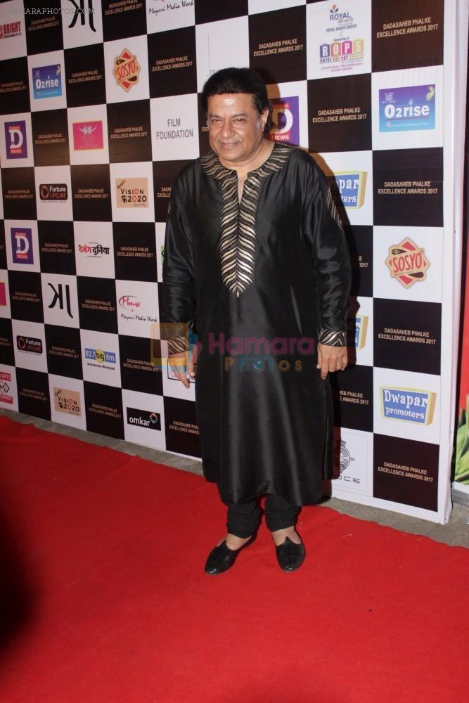 Anup Jalota at the Red Carpet Of Dadasaheb Phalke Excellence Awards 2017 on 21st April 2017