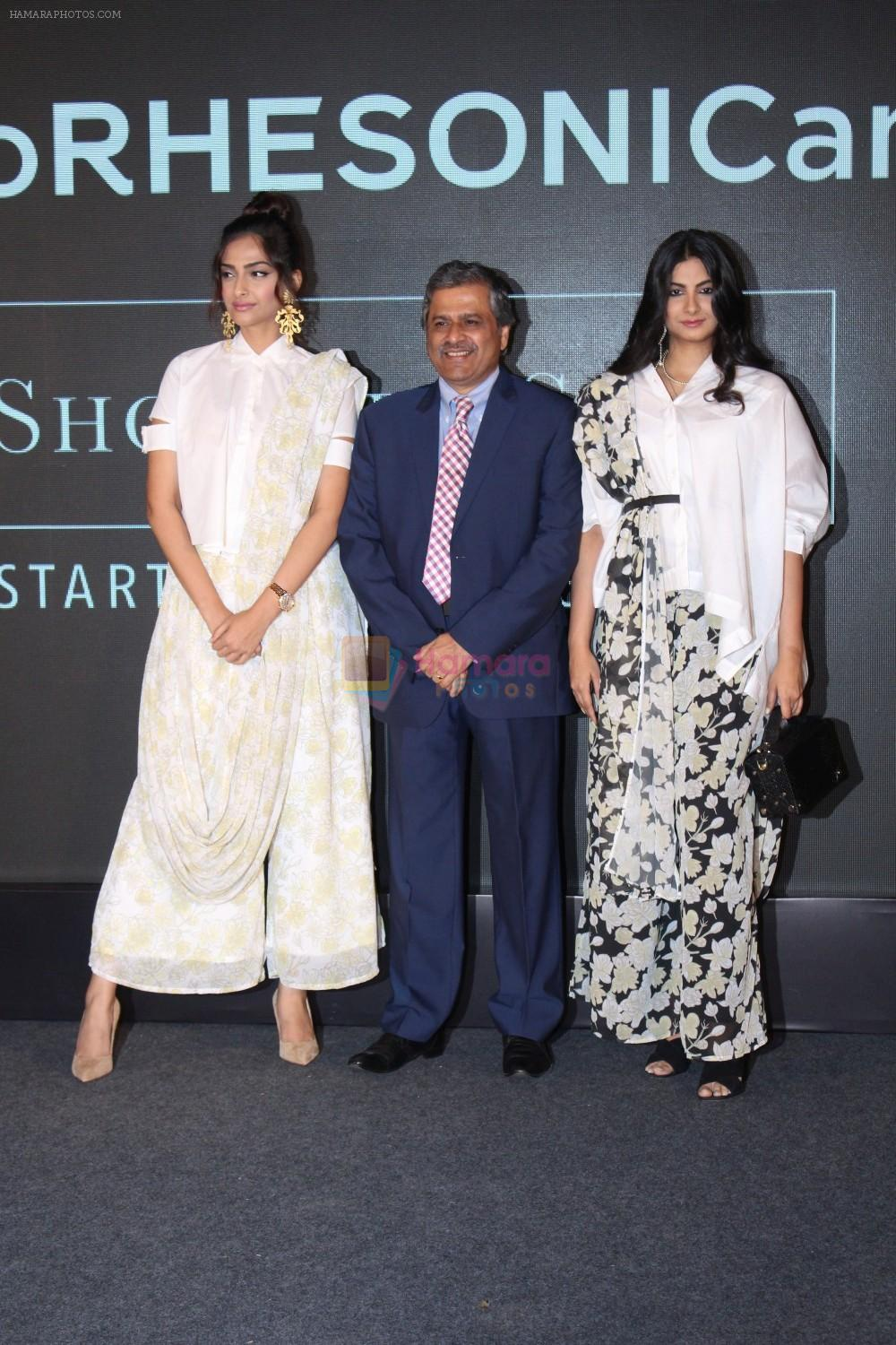 Sonam Kapoor, Rhea Kapoor at the Press Showcase Of Their High Street Brand Rheson on 17th May 2017