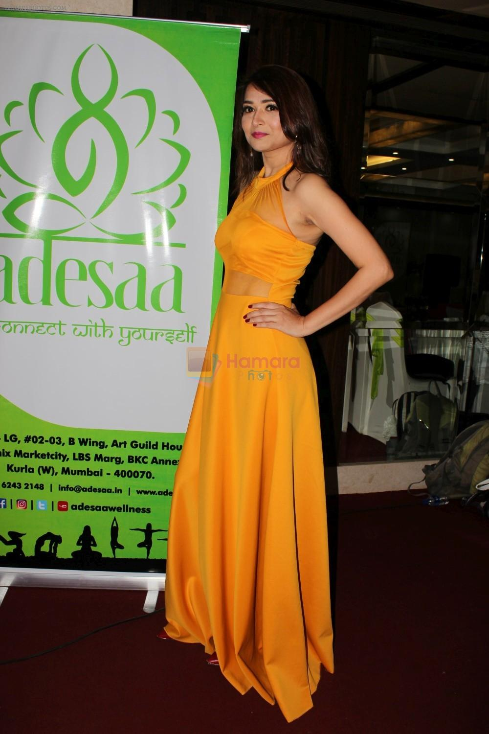 at The Grand Launch Of Adesaa Wellness Concerning Yoga on 19th May 2017