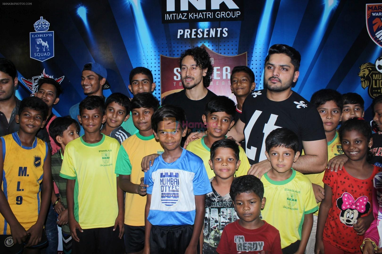 Tiger Shroff at the Launch Of The Second Edition Of Super Soccer Tournament on 28th May 2017