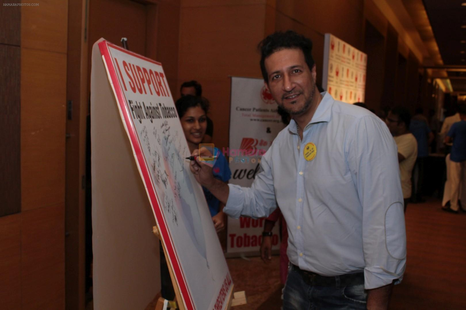 Sulaiman Merchant at the Press Conference To Say No To Tobacco & Yes To Life on 30th May 2017