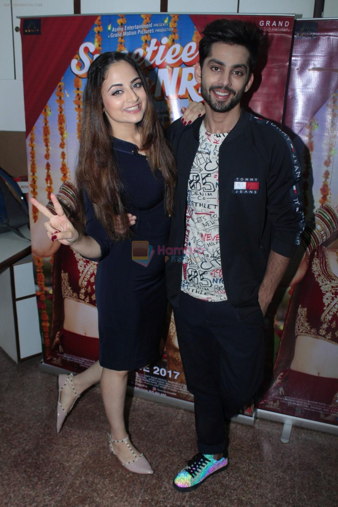 Himansh Kohli, Zoya Afroz at the Promotional Interview for Film Sweetiee Weds NRI on Ist June 2017