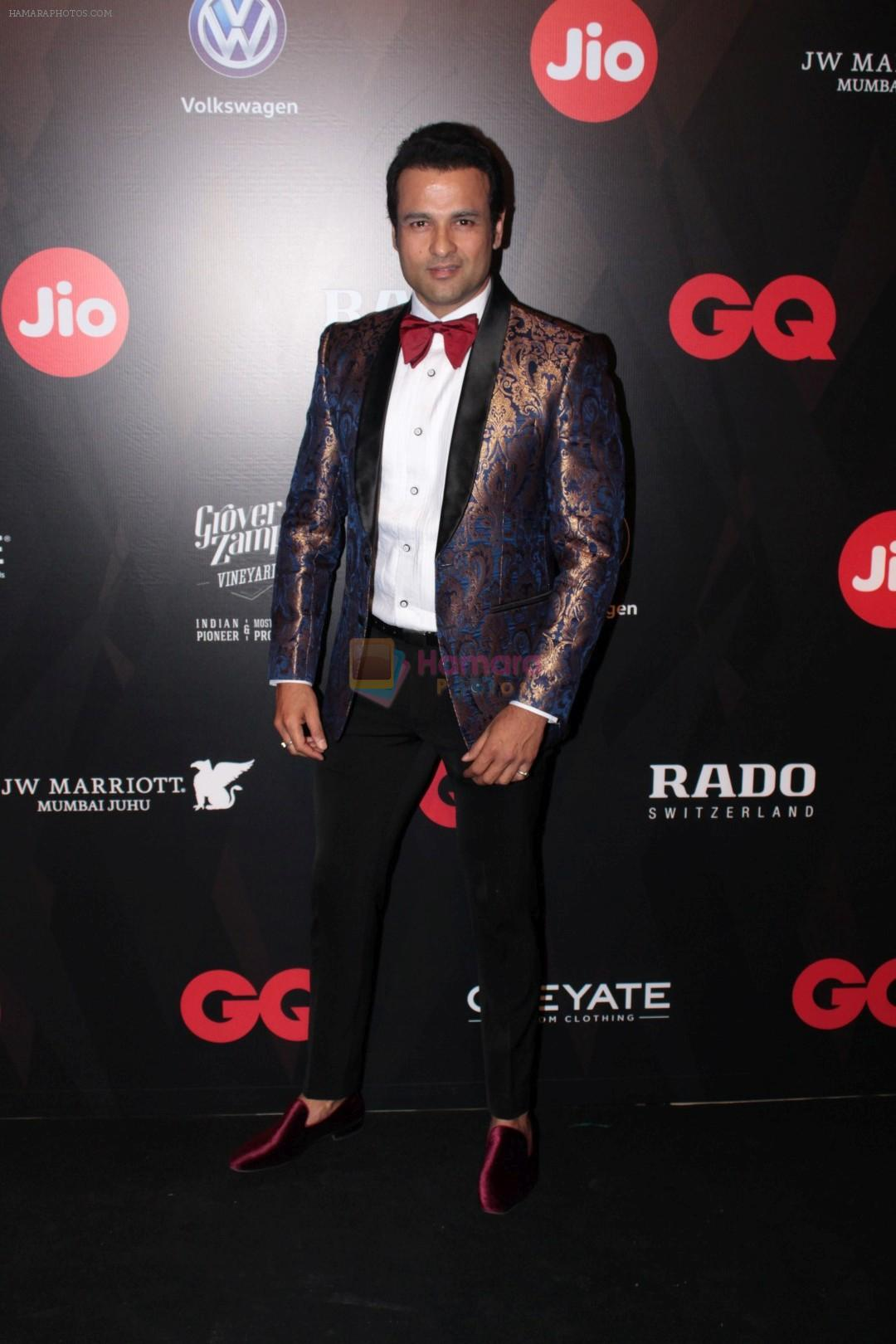 Rohit Roy at Star Studded Red Carpet For GQ Best Dressed 2017 on 4th June 2017