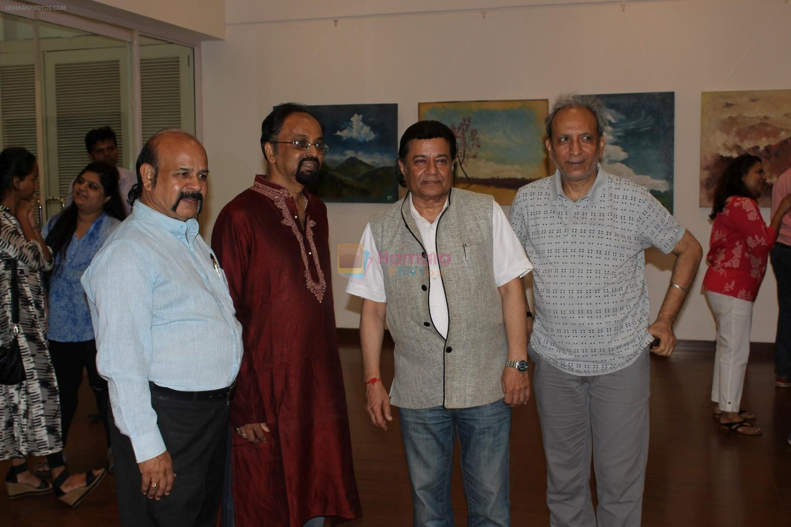Anup Jalota Inaugurates Kishore M Sali's See The Unseen Art Show on 6th June 2017