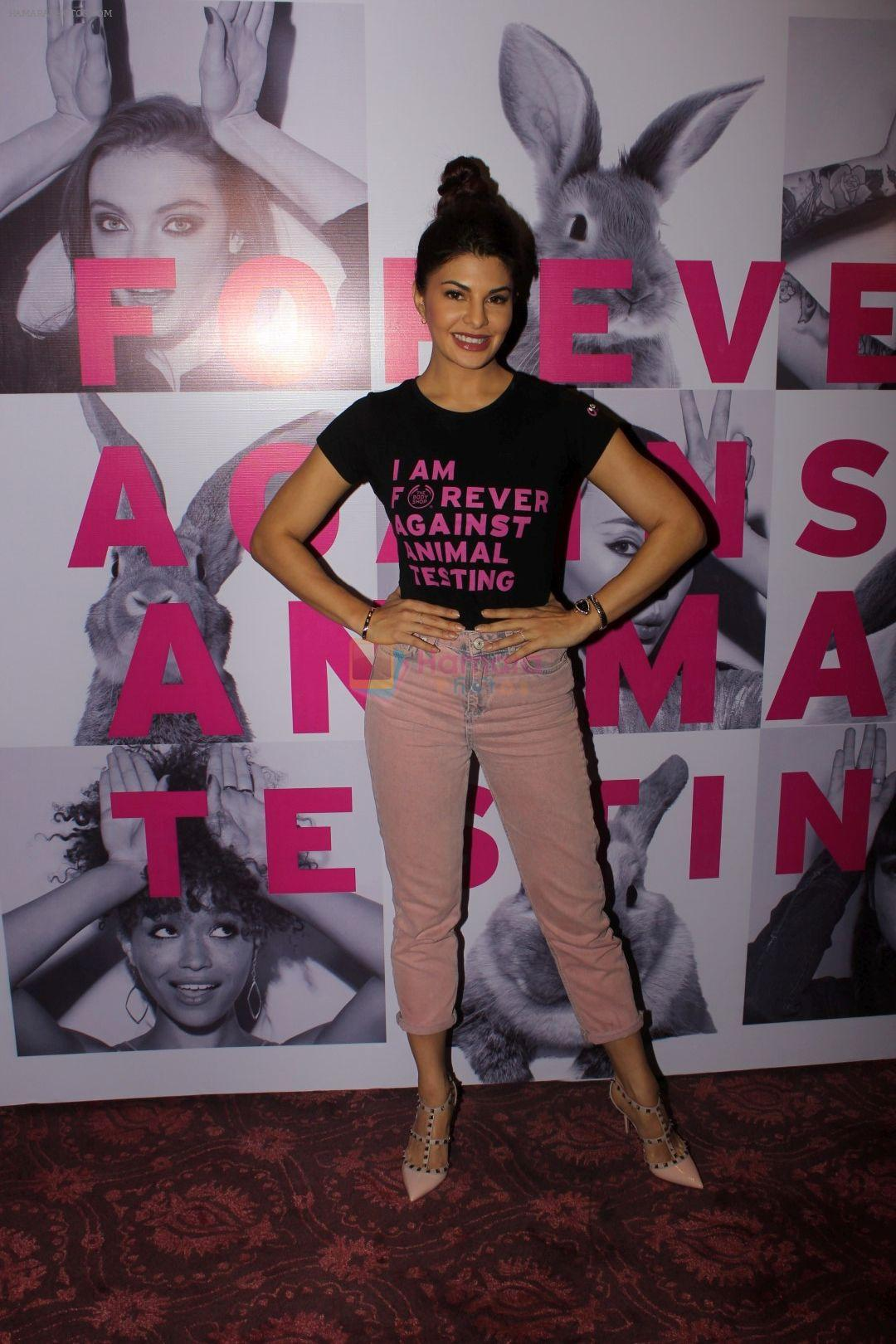 Jacqueline Fernandez at support for Iam forever against animal testing event on 9th June 2017