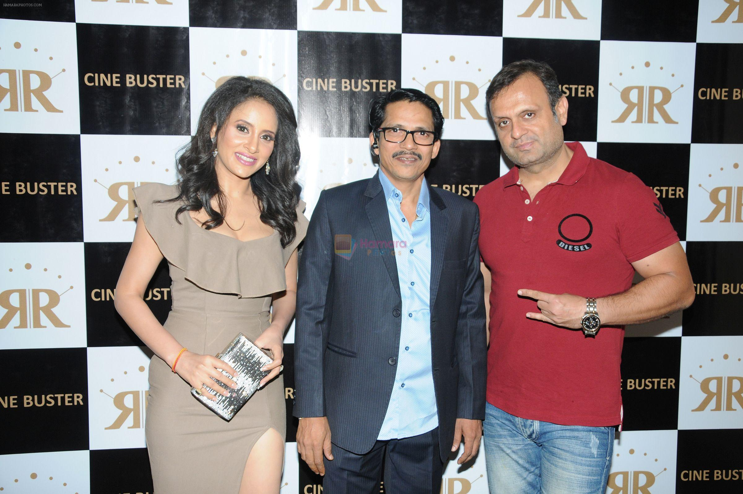 Ronnie Rodrigues with Shweta Khanduri and DJ Sheizwood at the Star Studded Grandiose Launch of Cinebuster Magazine On 10th June 2017