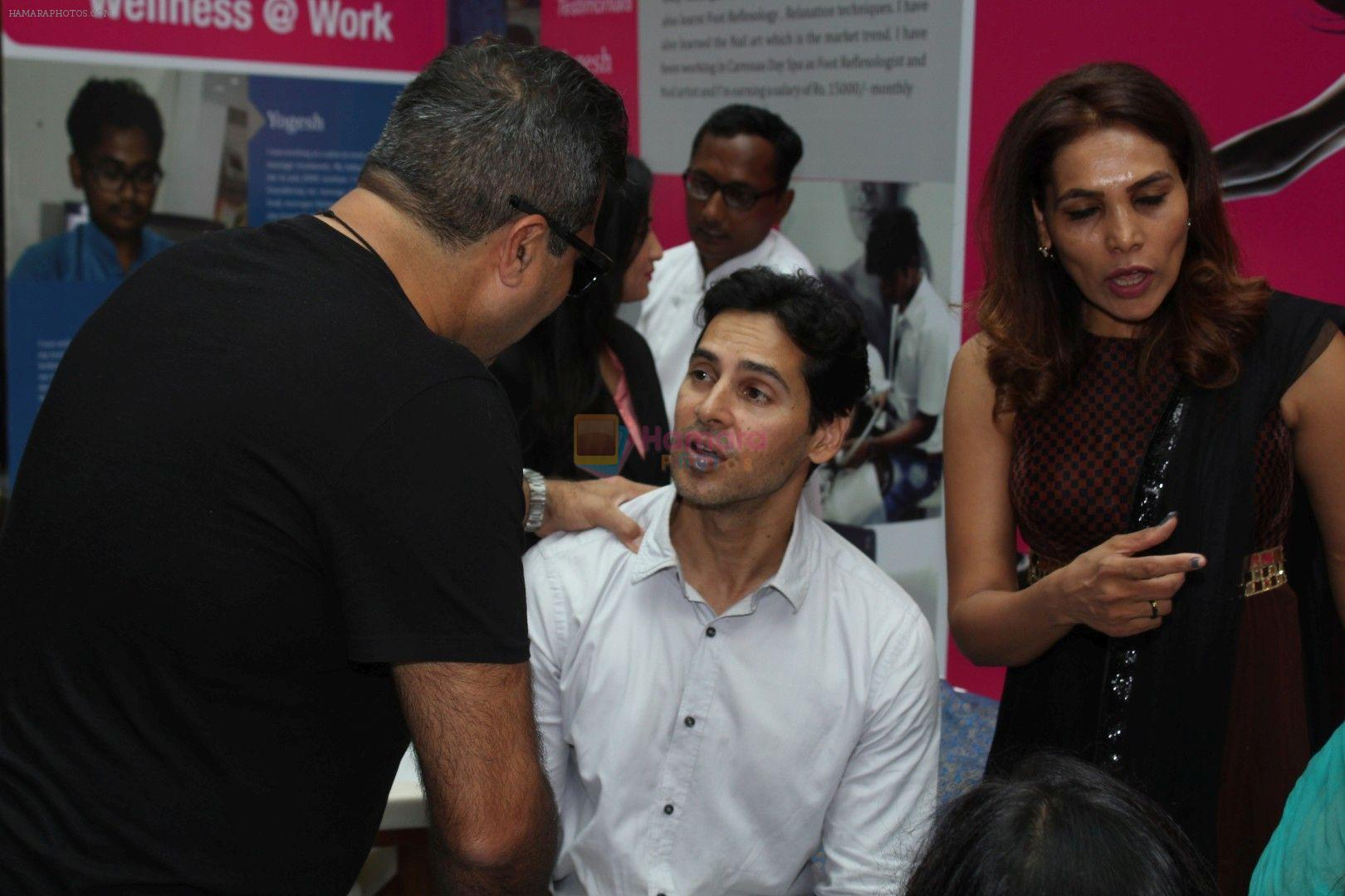 Dino Morea during Global Wellness Week celebrations with farmer's children, in Mumbai, India on June 13, 2017