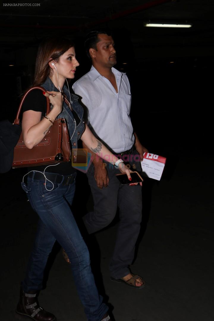 Sussanne Khan at the International Airport on 13th June 2017