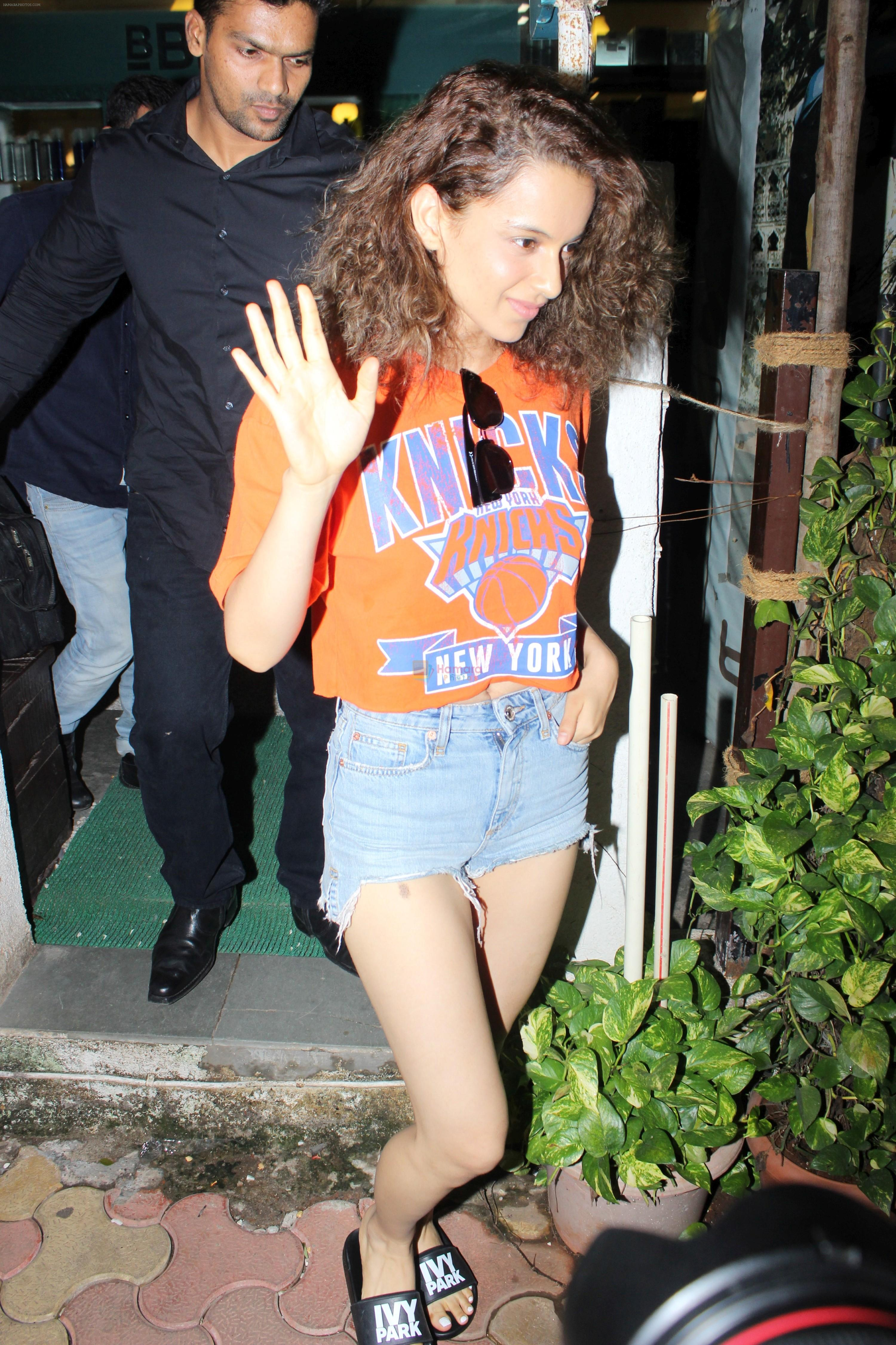 Kangana Ranaut spotted at bblunt salon on 13th June 2017