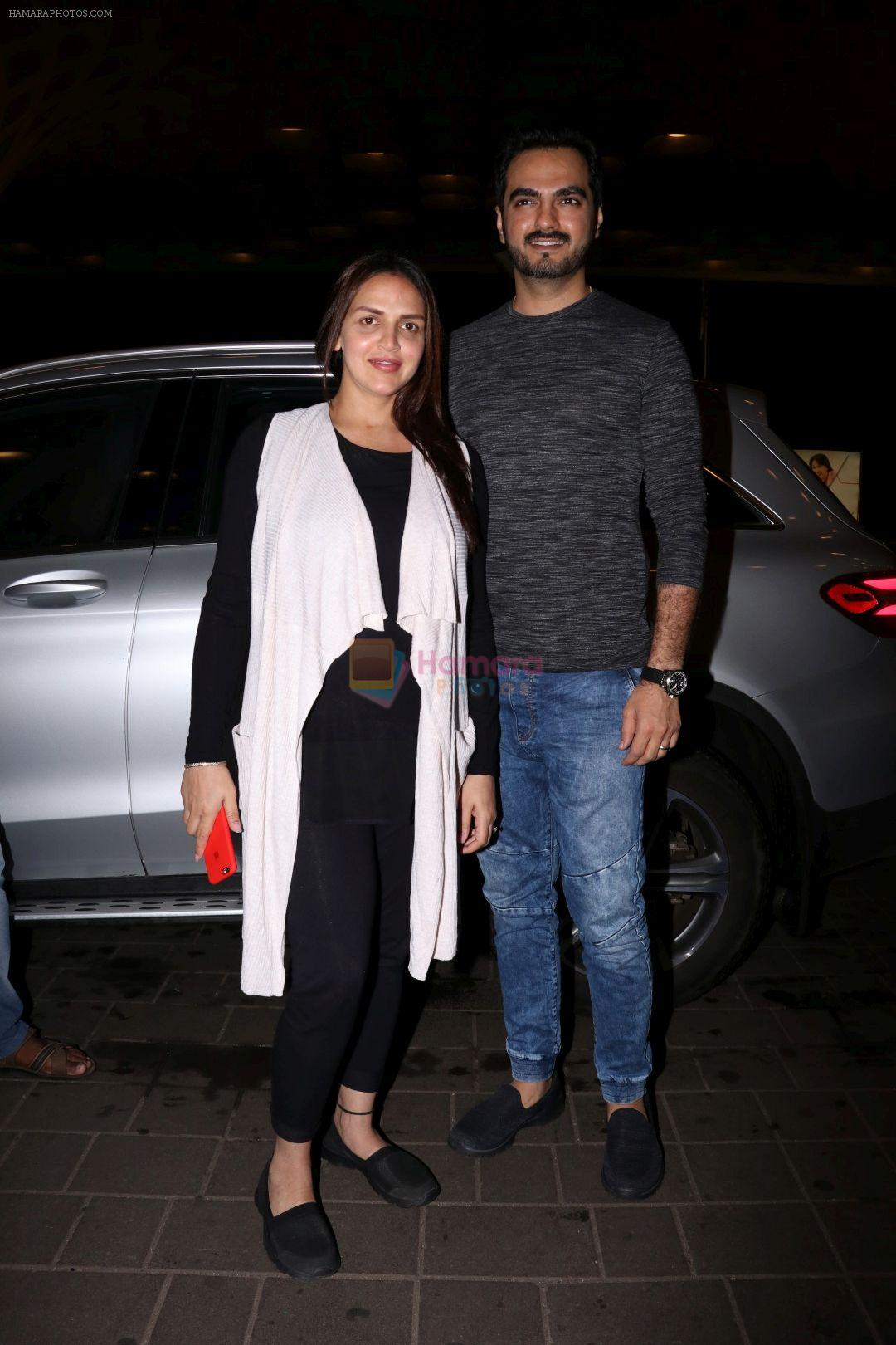 Esha Deol with her husband Bharat Takhtani at the airport during early hours of 15th June 2017
