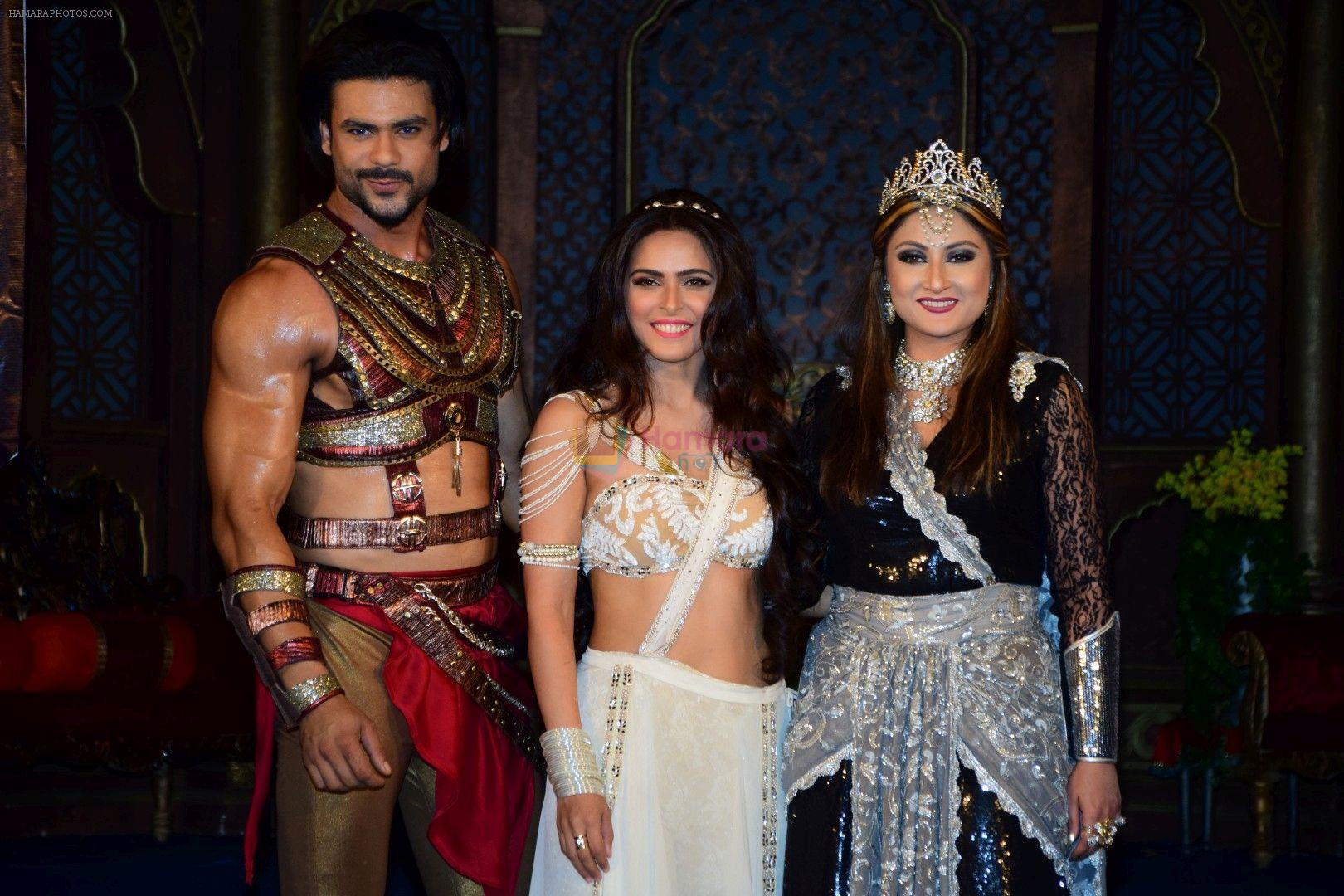 Madhurima Tuli, Vishal Aditya, Urvashi Dholakia during launch of serial Chandrakanta in Mumbai on June 14, 2017