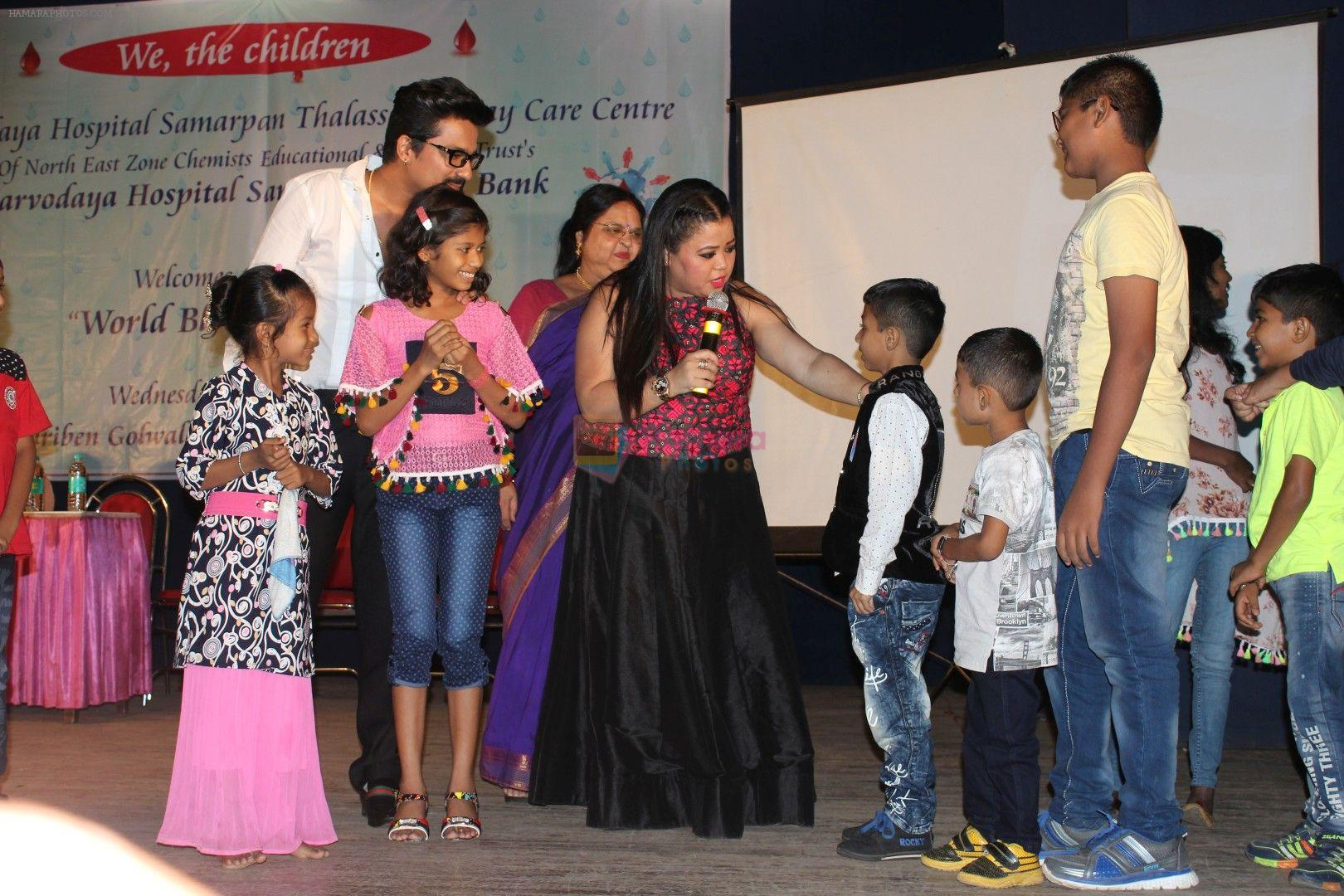 Bharti Singh, Harsh Limbachiyaa spend time with the Thalassemia affected kids in Mumbai on June 14, 2017