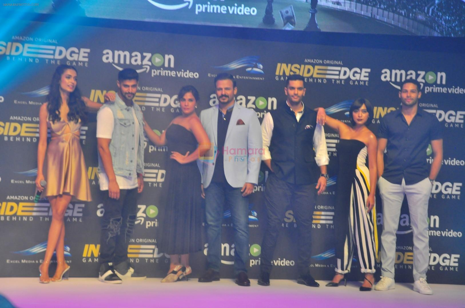 Sarah Jane Dias, Angad Bedi, Tanuj Virwani, Richa Chadda, Vivek Oberoi, Siddhant Chaturvedi, Sayani Gupta at Trailer Launch Of Indiai's 1st Amazon Prime Video Original Series Inside Edge on 16th June 2017