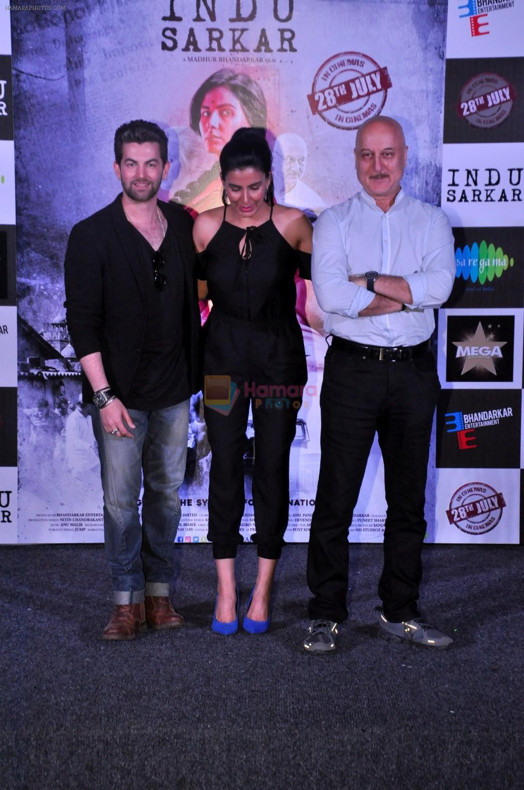 Kirti Kulhari, Neil Nitin Mukesh, Anupam Kher at the Trailer Launch Of Film Indu Sarkar in Mumbai on 16th June 2017