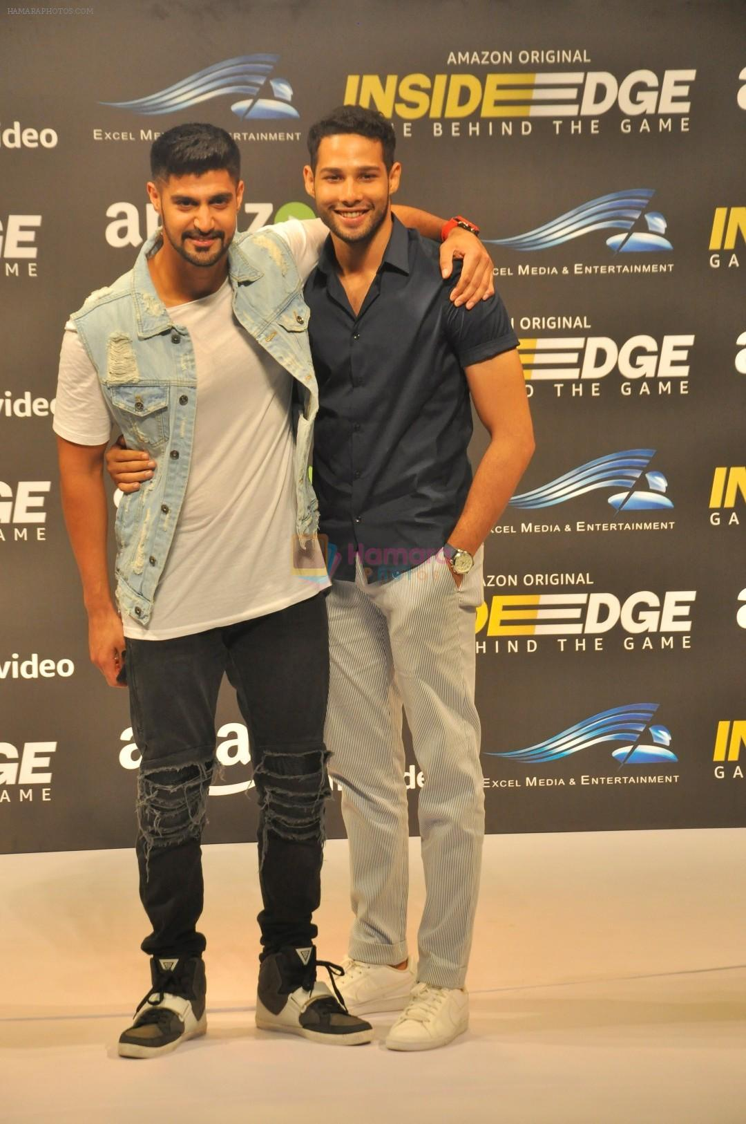 Tanuj Virwani, Siddhant Chaturvedi at Trailer Launch Of Indiai's 1st Amazon Prime Video Original Series Inside Edge on 16th June 2017