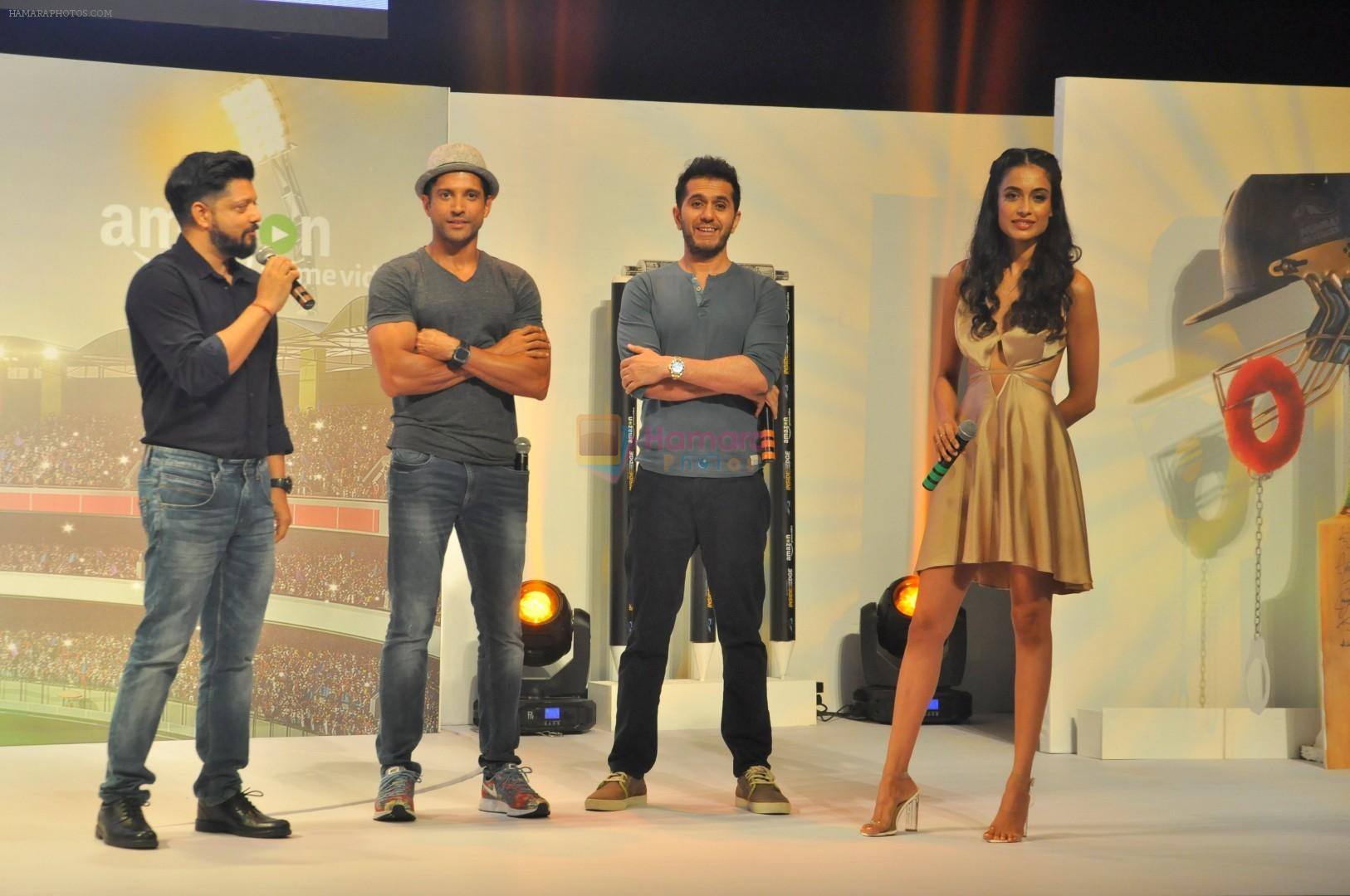 Farhan Akhtar, Ritesh Sidhwani, Sarah Jane Dias at Trailer Launch Of Indiai's 1st Amazon Prime Video Original Series Inside Edge on 16th June 2017
