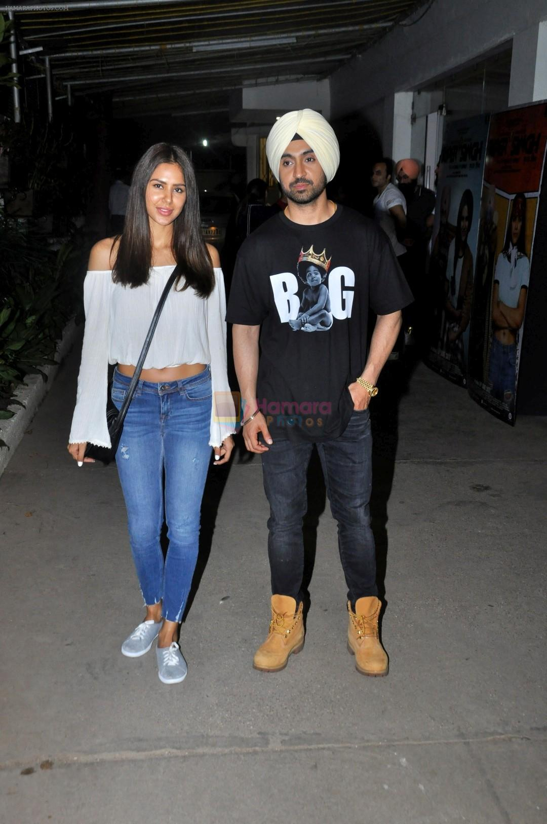 Sonam Bajwa, Diljit Dosanjh at the Special Screenig Of Film Super Singh in Mumbai on 16th June 2017