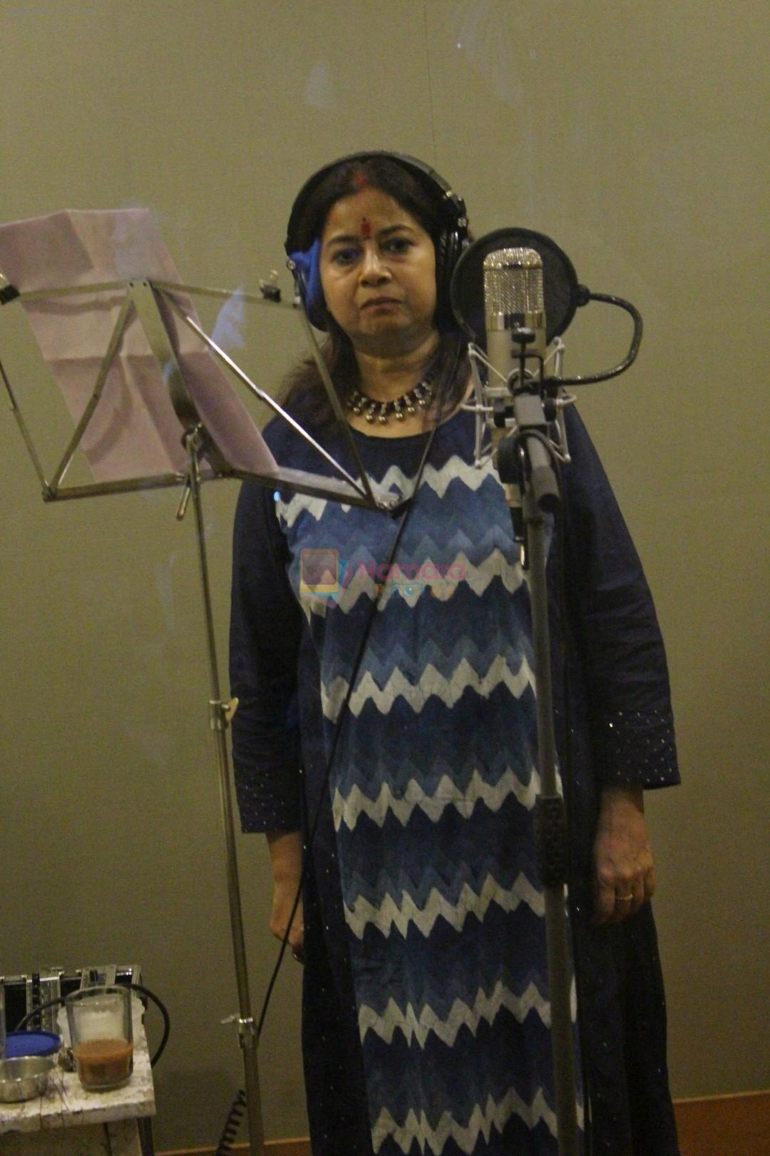 Rekha Bharadwaj at the Song Recording Of Marathi Film Lapachhapi on 17th June 2017