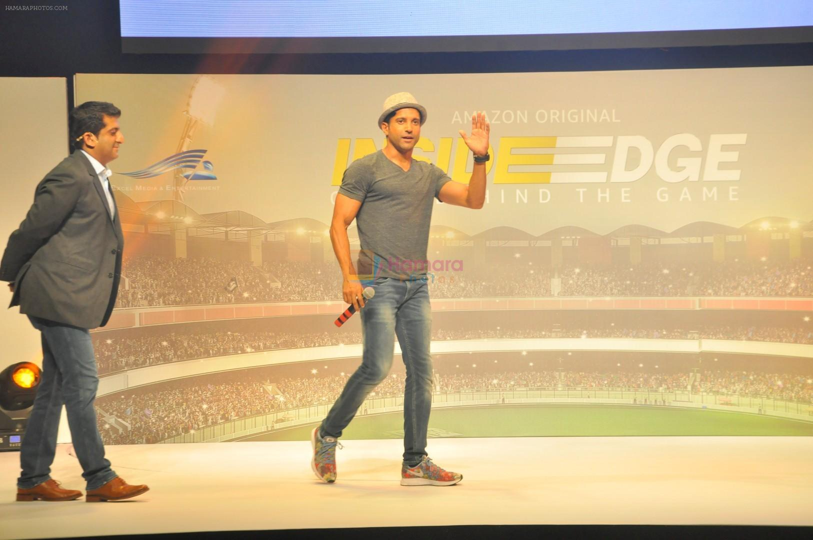 Farhan Akhtar at Trailer Launch Of Indiai's 1st Amazon Prime Video Original Series Inside Edge on 16th June 2017