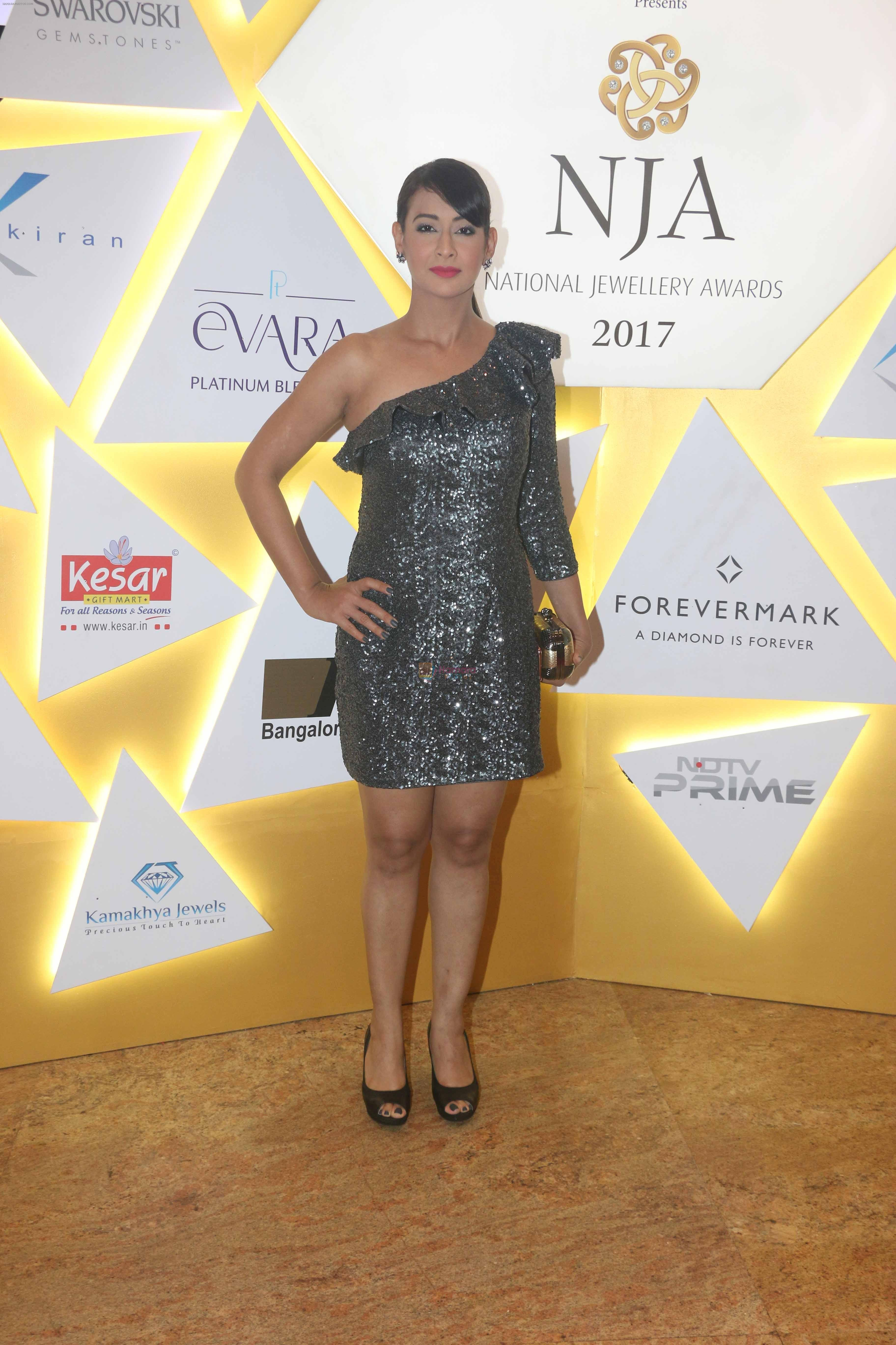 Preeti Jhangiani At National Jewellery Awards 2017 on 29th July 2017