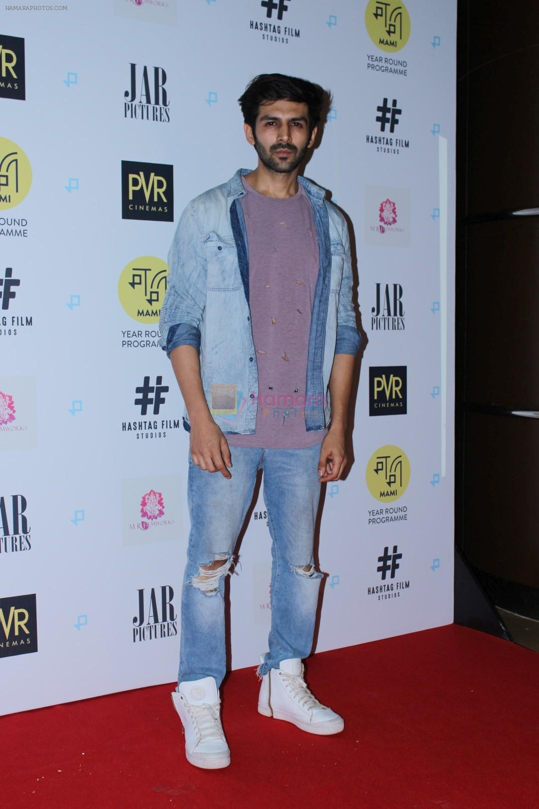 Kartik Aaryan at Gurgaon Film Premiere Hosted By MAMI Film Club on 1st Aug 2017