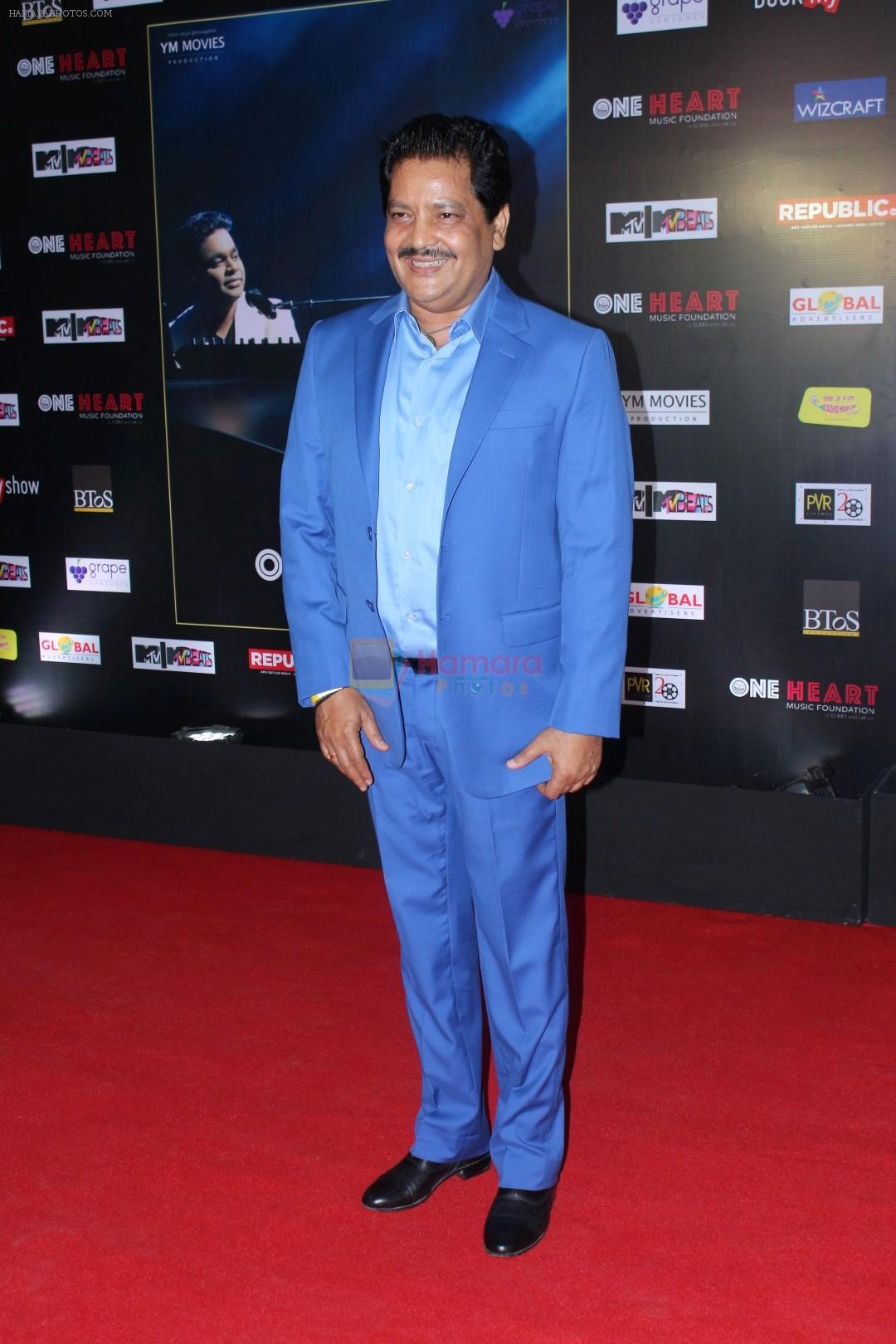 Udit Narayan at the Premiere Of Music Maestro A.R. Rahman One Heart - A Concert Film on 7th Sept 2017