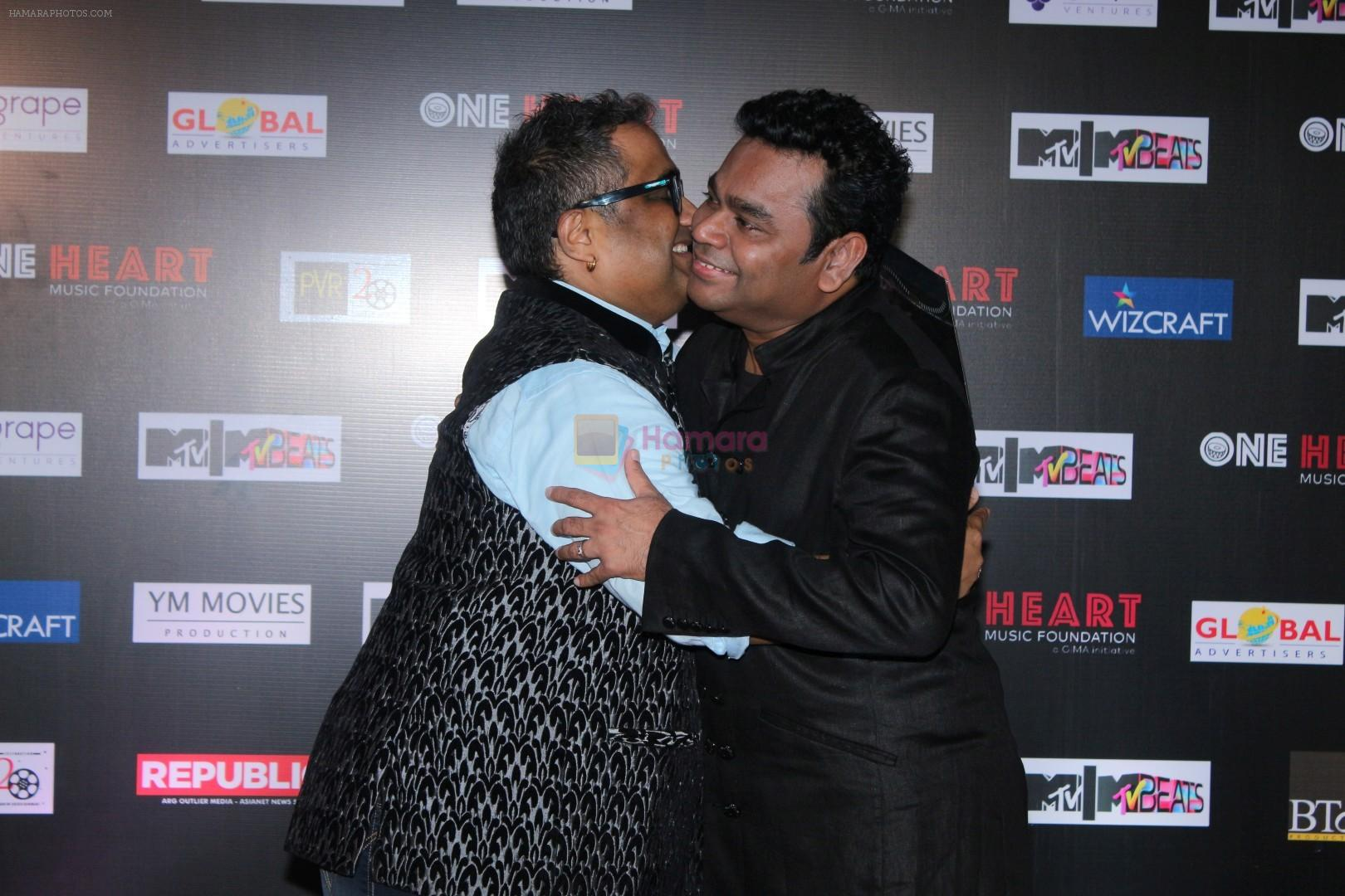 Kunal Ganjawala at the Premiere Of Music Maestro A.R. Rahman One Heart - A Concert Film on 7th Sept 2017