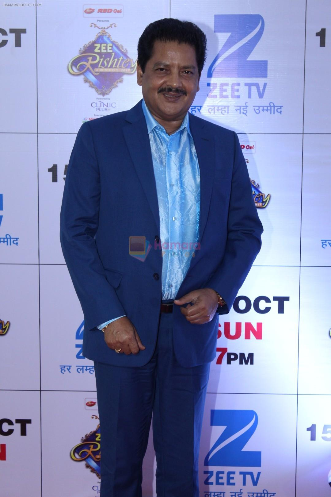 Udit Narayan at the Red Carpet Of The Grand Celebration Of Zee Rishtey Awards 2017 on 10th Sept 2017