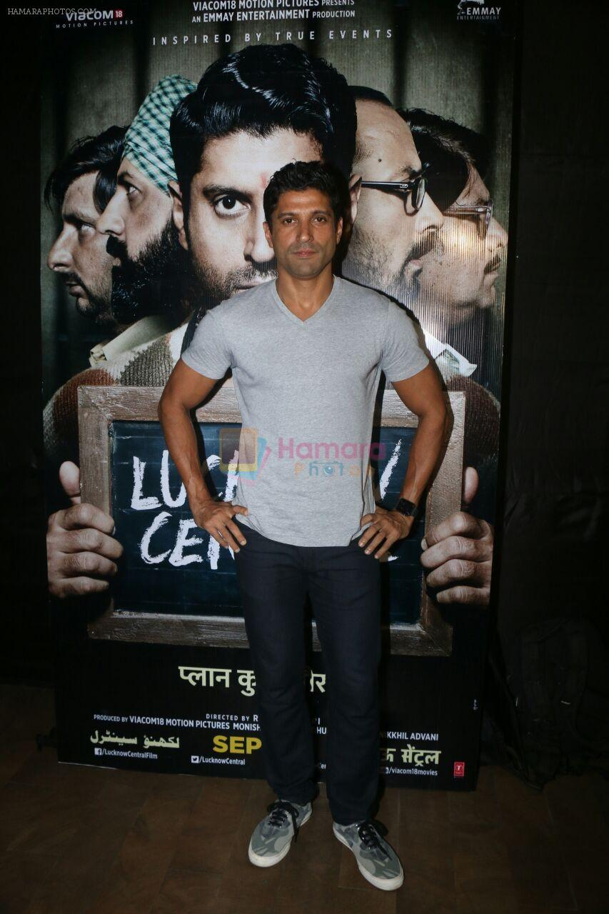 Farhan Akhtar at the Special Screening Of Film Lucknow Central on 13th Sept 2017