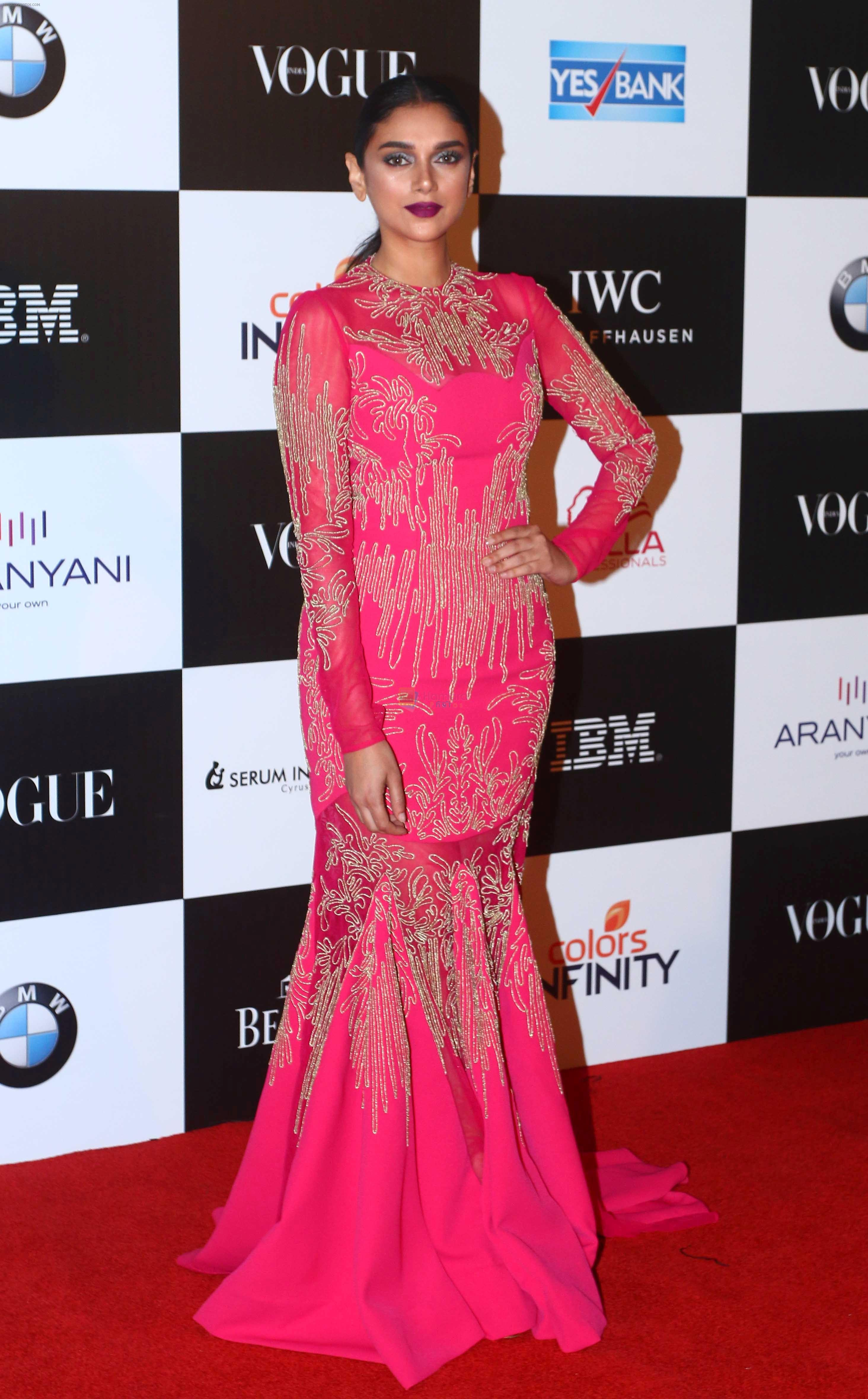 Aditi Rao Hydari at the Red Carpet Of Vogue Women Of The Year 2017 on 25th Sept 2017