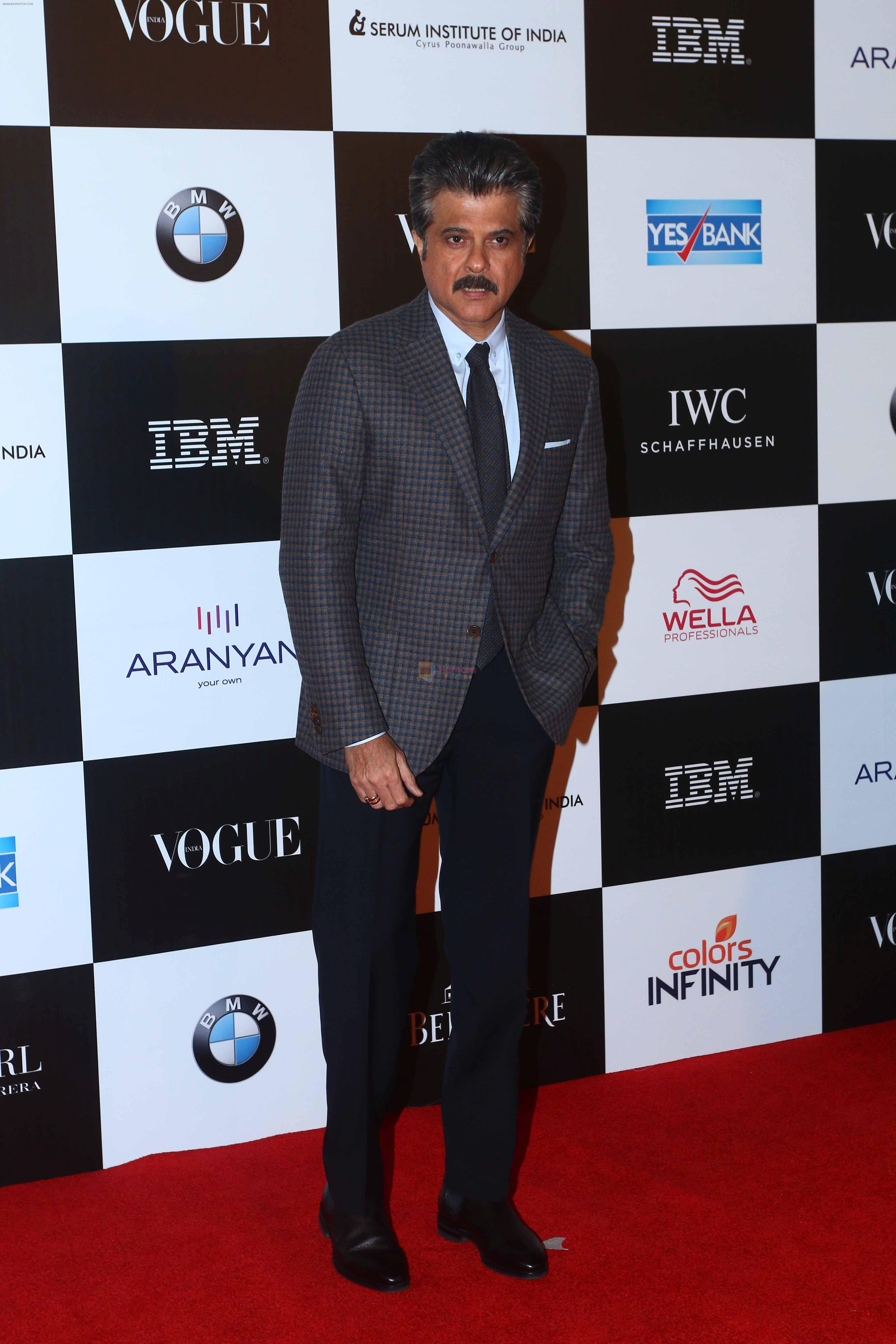 Anil Kapoor at the Red Carpet Of Vogue Women Of The Year 2017 on 25th Sept 2017