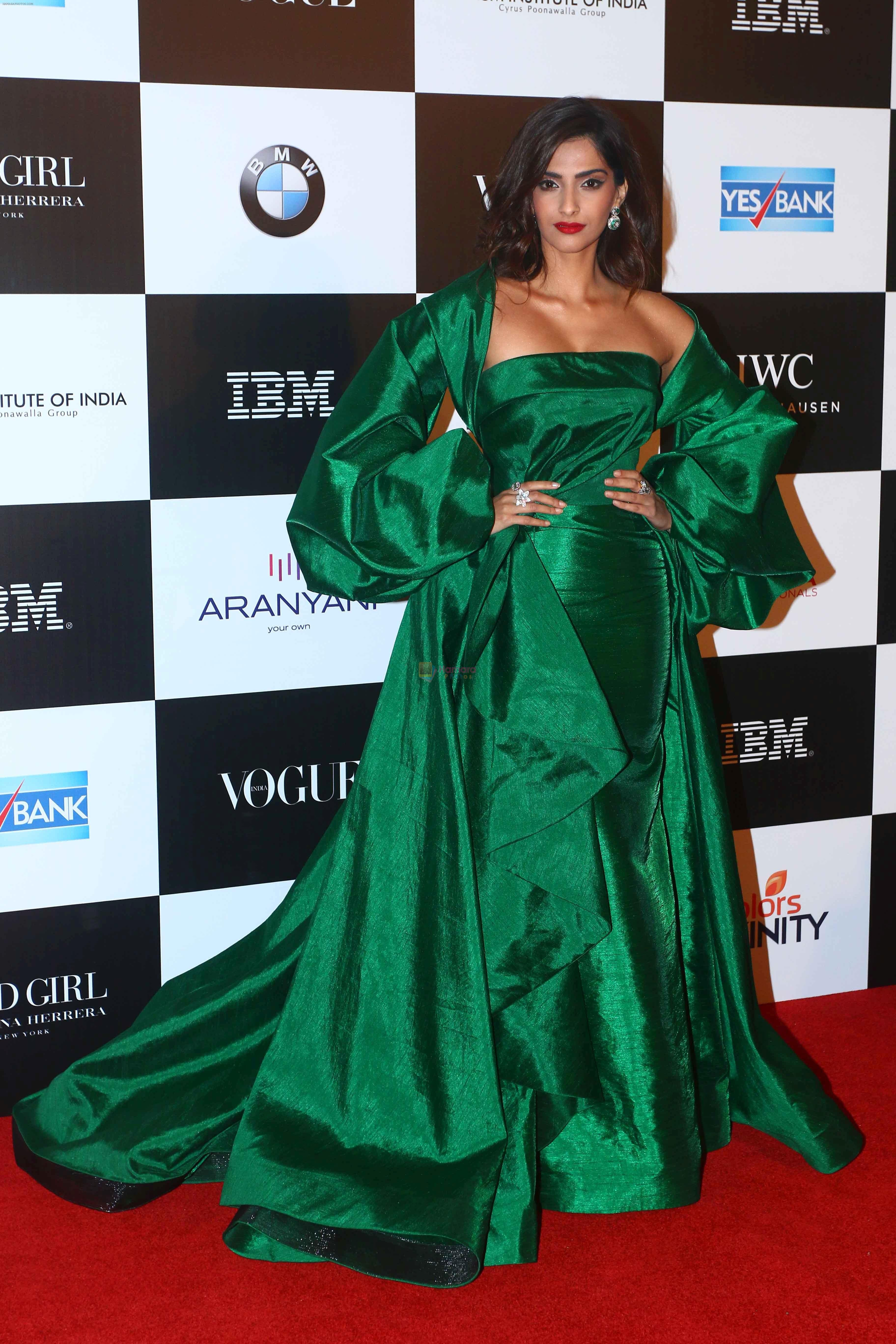 Sonam Kapoor at the Red Carpet Of Vogue Women Of The Year 2017 on 25th Sept 2017