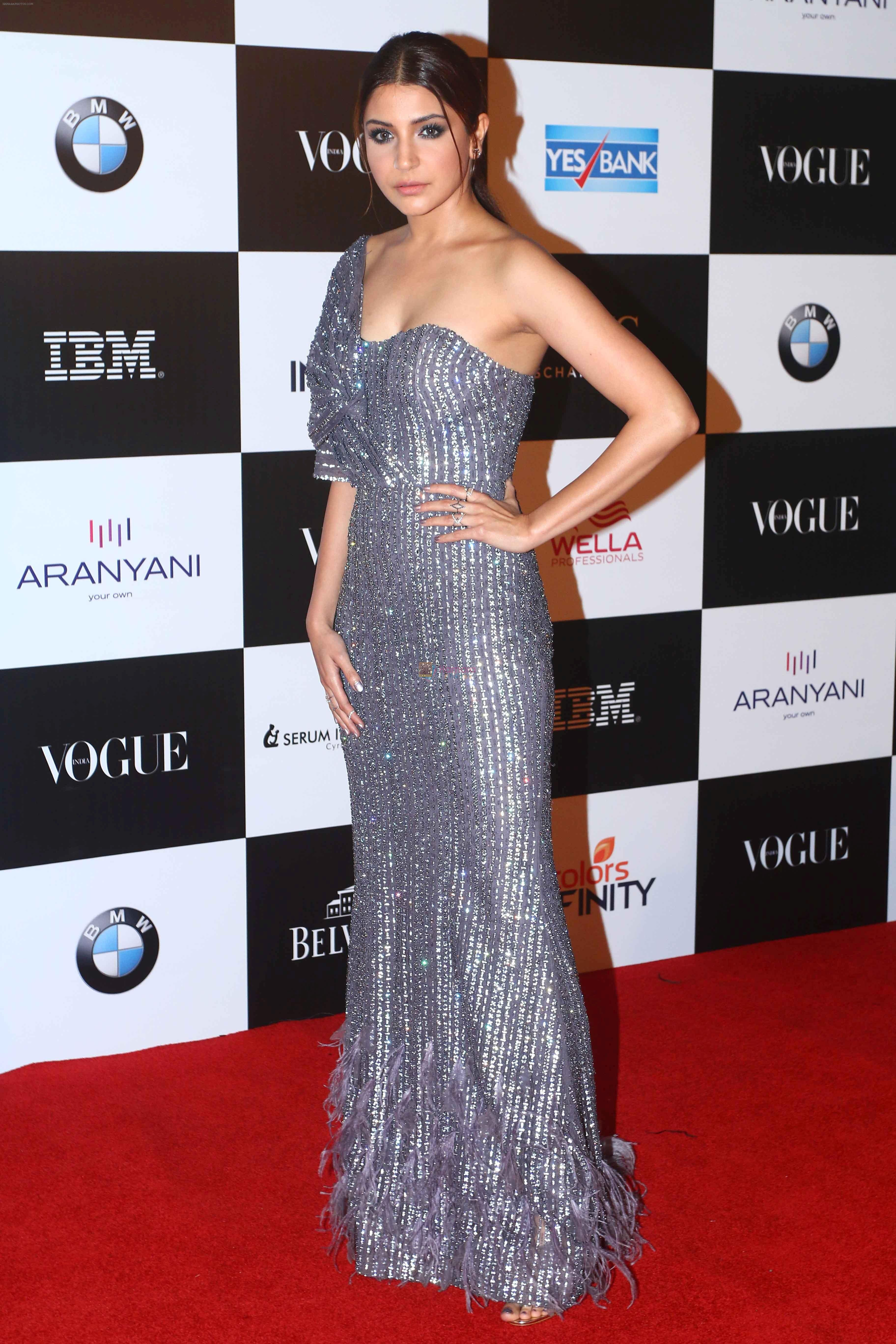 Anushka Sharma at the Red Carpet Of Vogue Women Of The Year 2017 on 25th Sept 2017