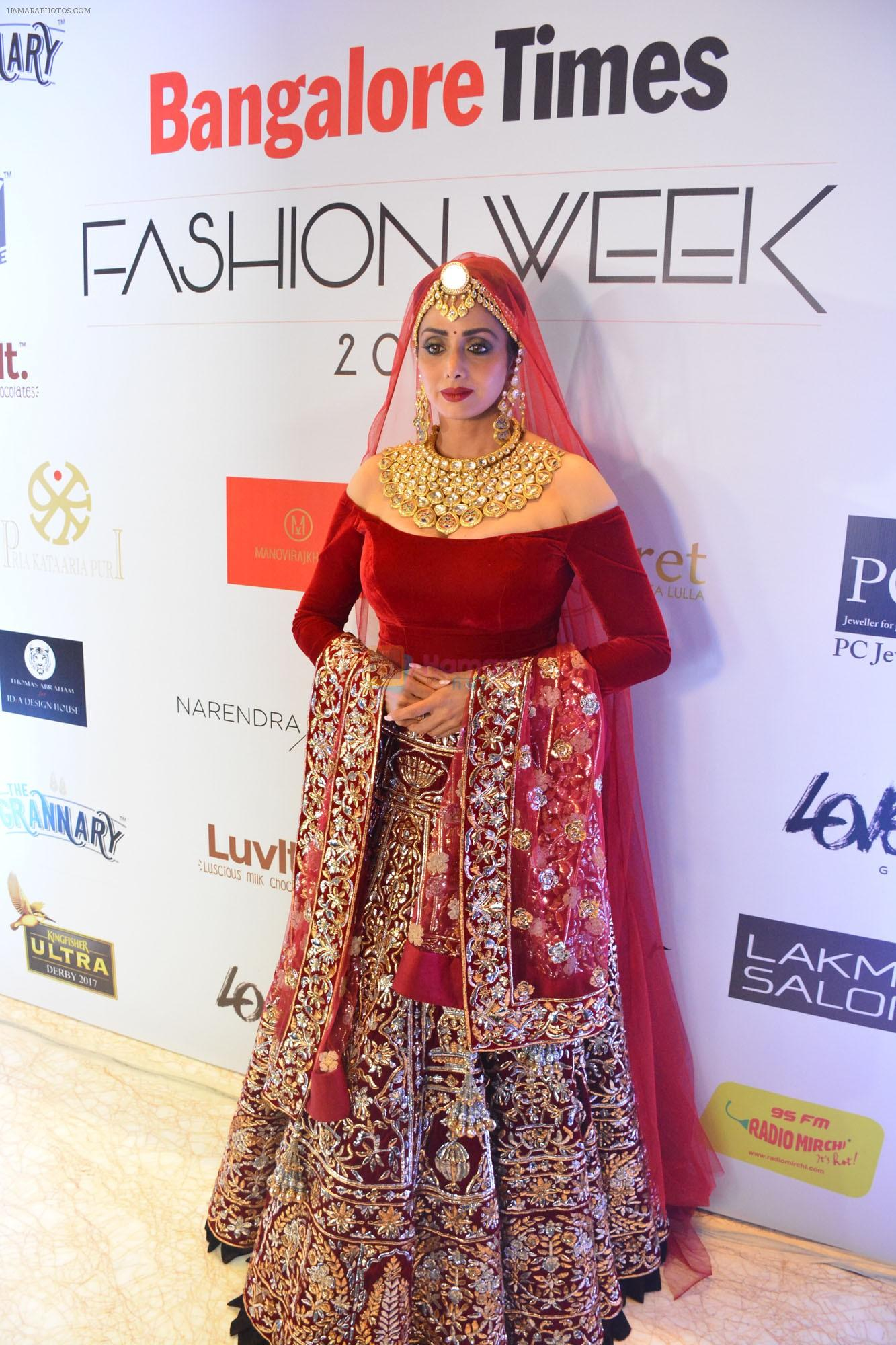 Sridevi At Bangalore Times Fashion Week In Bengaluru On 7th October 2017 At Jw Marriott