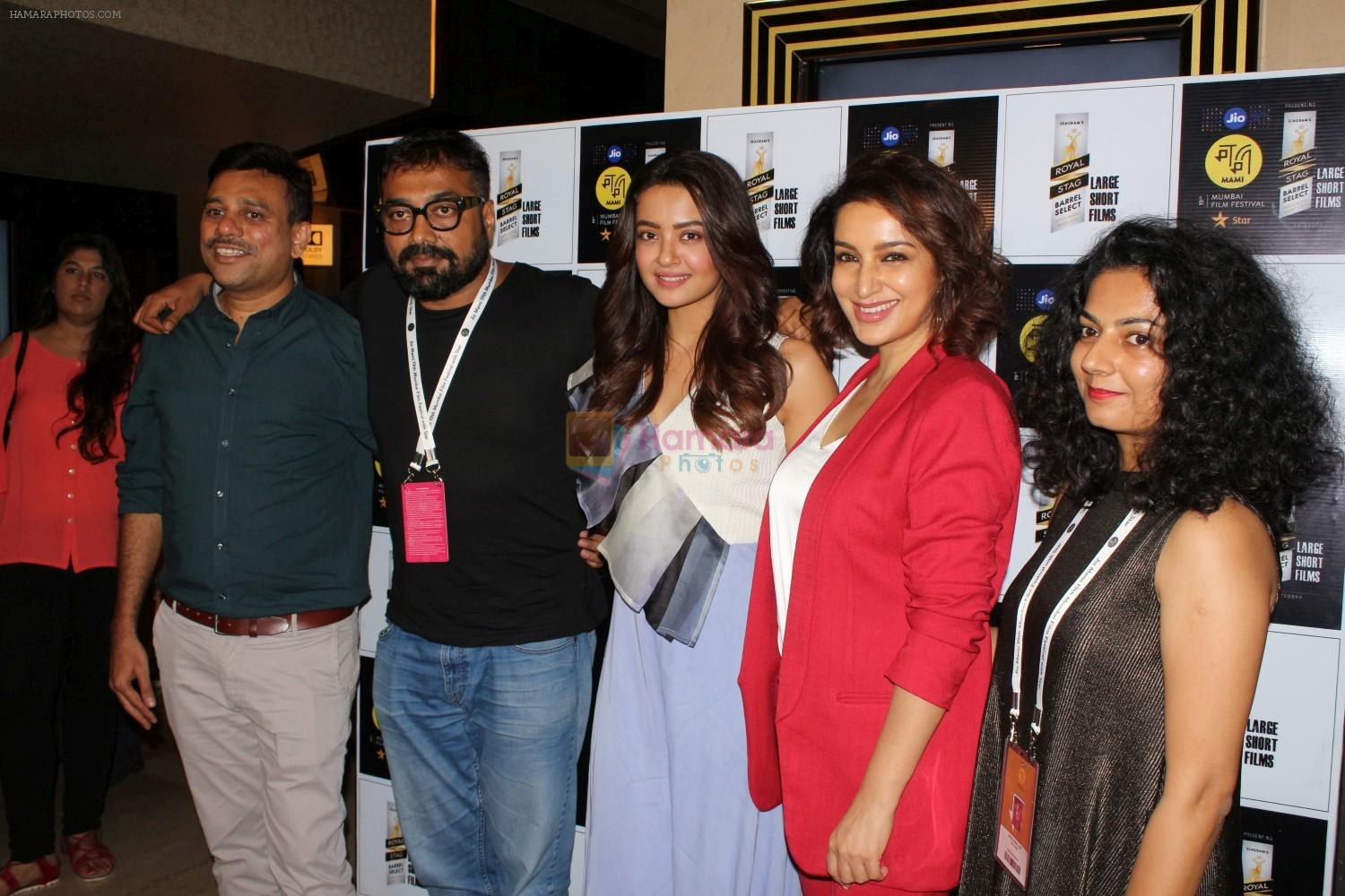 Tisca Chopra, Anurag Kashyap, Surveen Chawla At Royal Stag Barrel Large Short Films on 13th Oct 2017