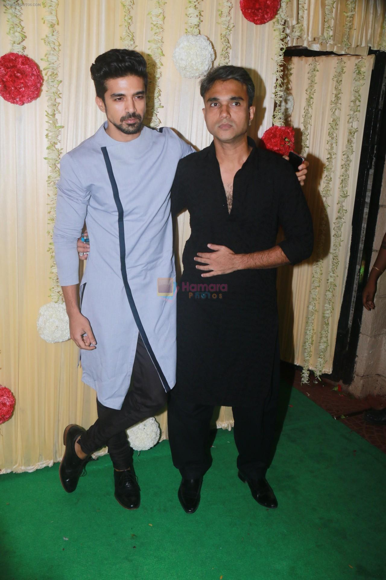 Saqib Saleem Attend Ekta Kapoor's Diwali Party on 18th Oct 2017