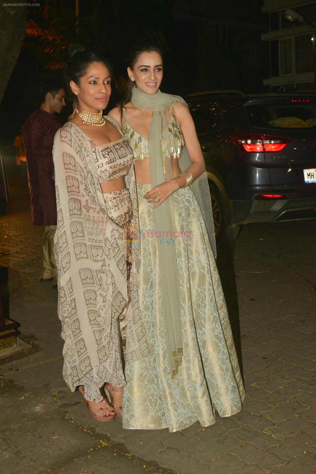 Masaba at Anil Kapoor's Diwali party in juhu home on 20th Oct 2017