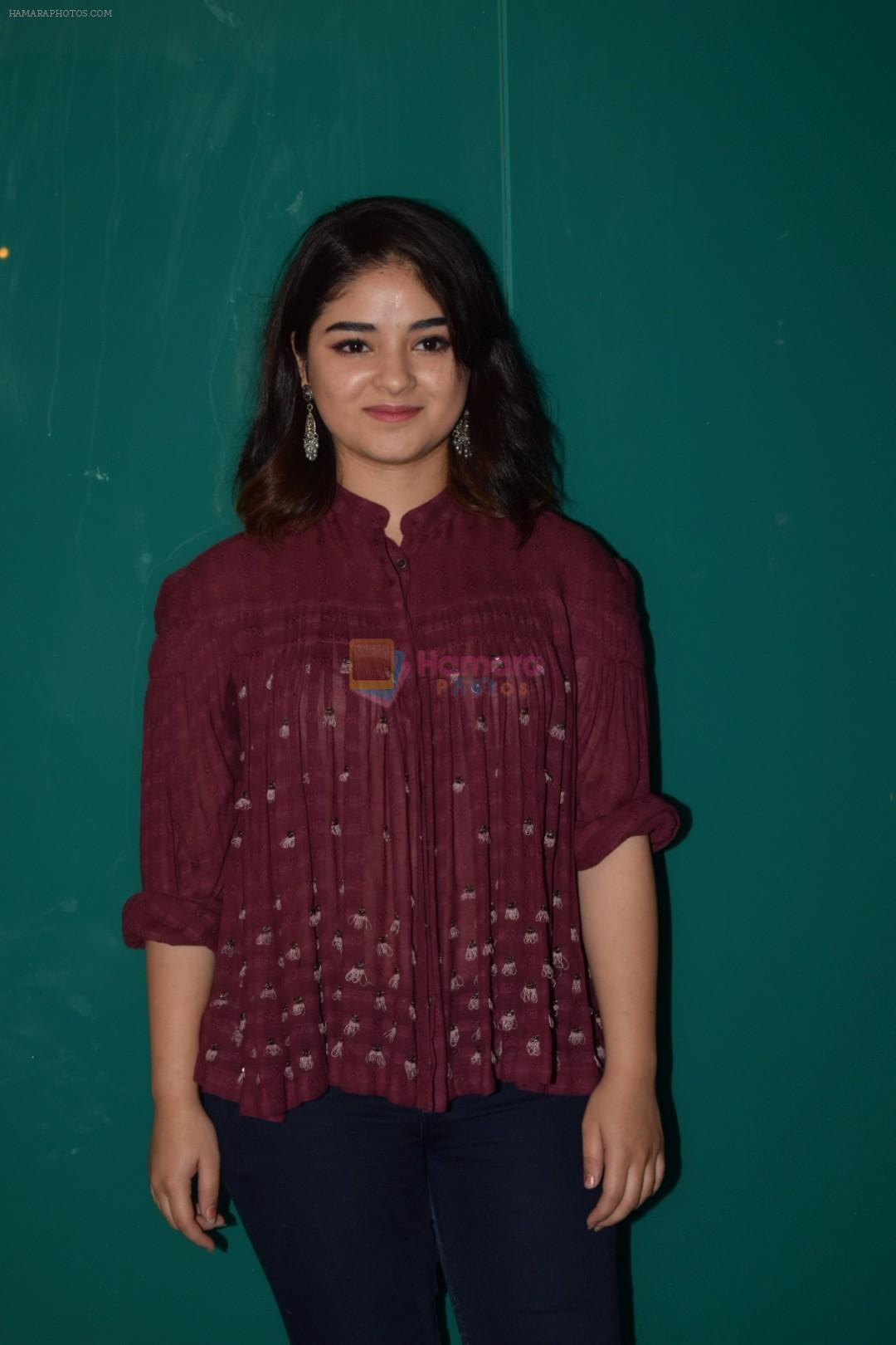 Zaira Wasim at the Success Party Of Secret Superstar Hosted By Advait Chandan on 26th Oct 2017