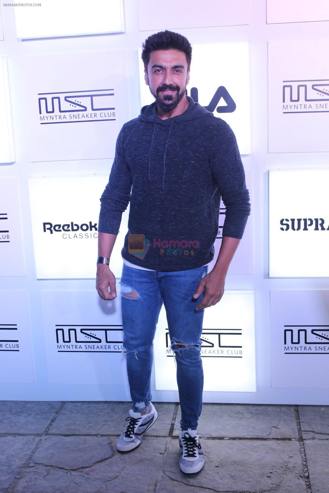 Aashish Chaudhary at Myntra Sneaker Club Organise Pub Crawl on 27th Oct 2017