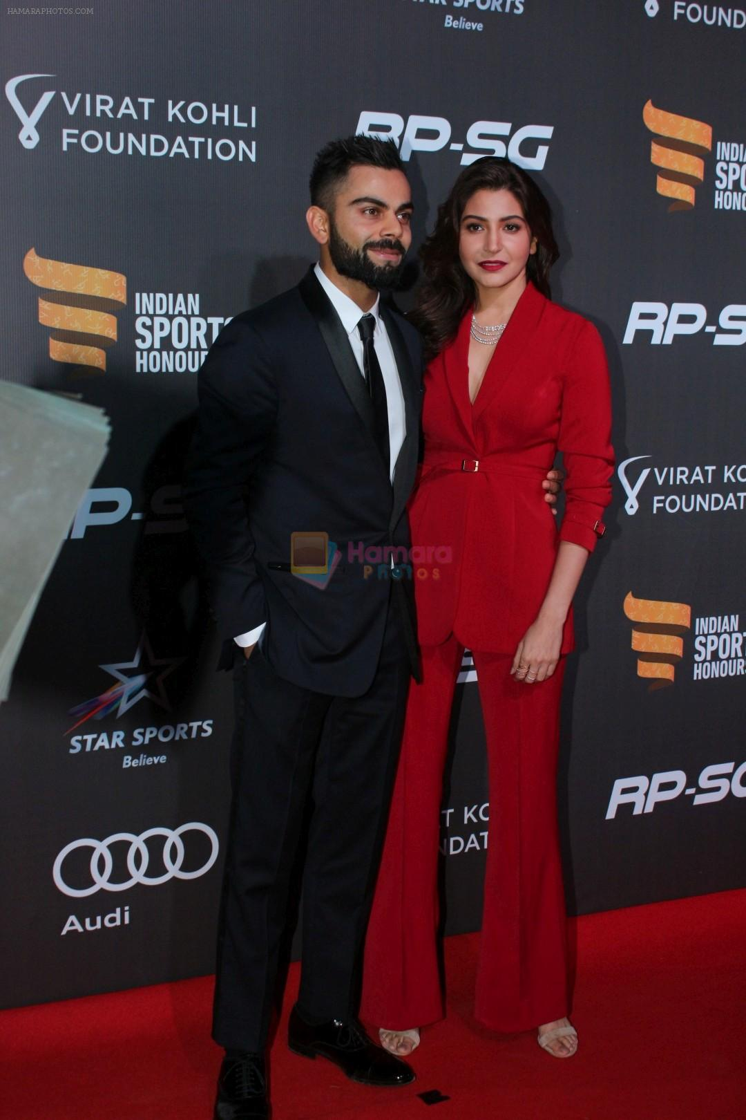 Anushka Sharma, Virat Kohli at Indian Sports Honour Award 2017 on 11th Nov 2017