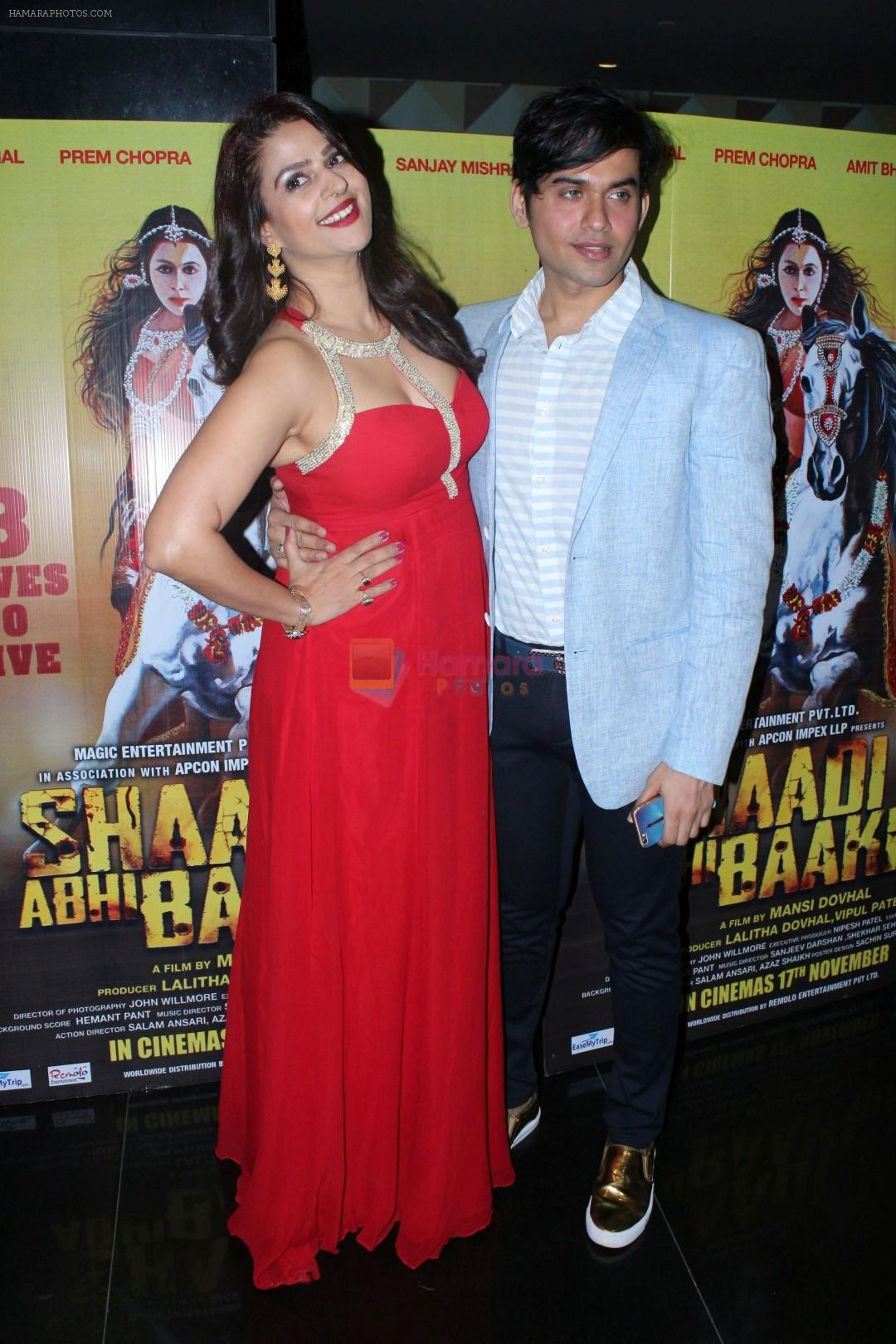 at the Grand Premiere Of Shaadi Abhi Baaki Hai on 16th Nov 2017